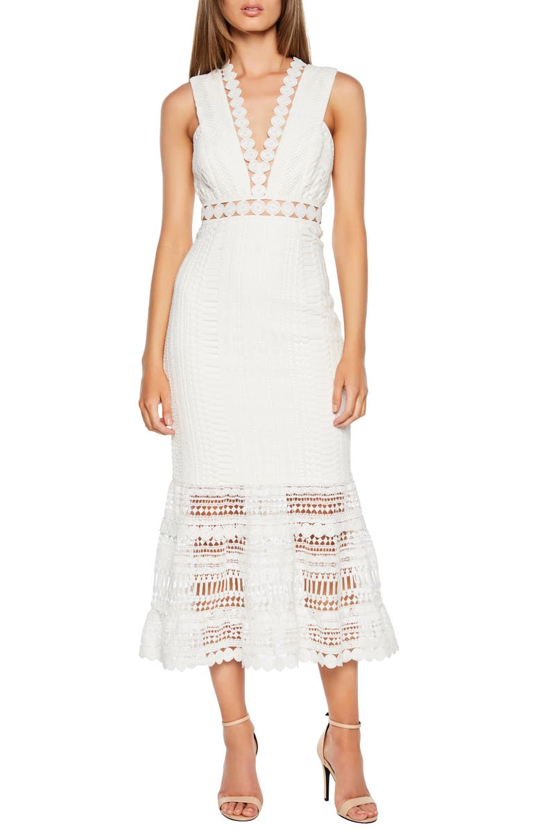 Bardot Dresses PETRA LACE TEA LENGTH DRESS