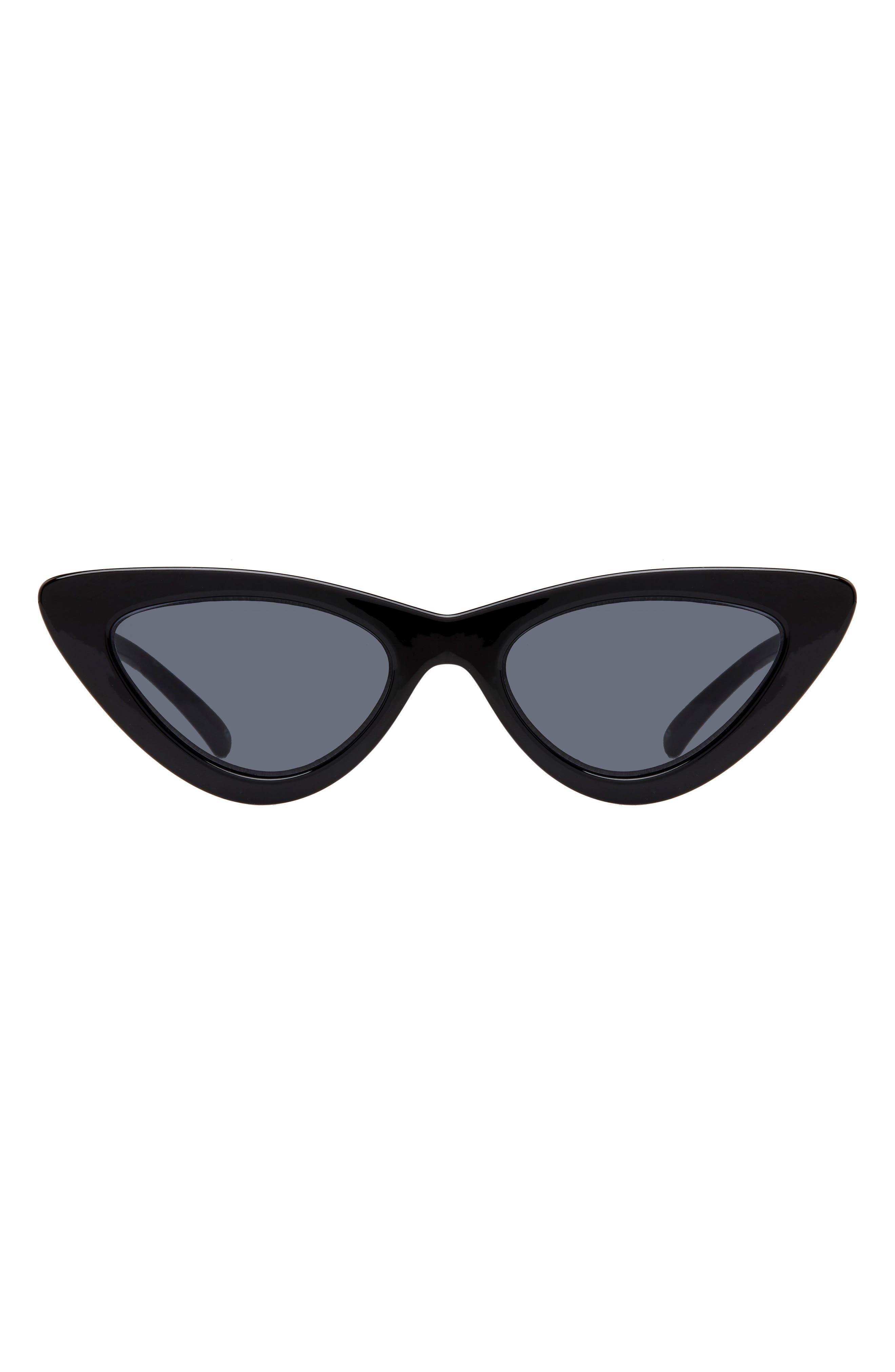 ADAM SELMAN X LE SPECS LUXE, Lolita 49mm Cat Eye Sunglasses, Alternate thumbnail 4, color, BLACK