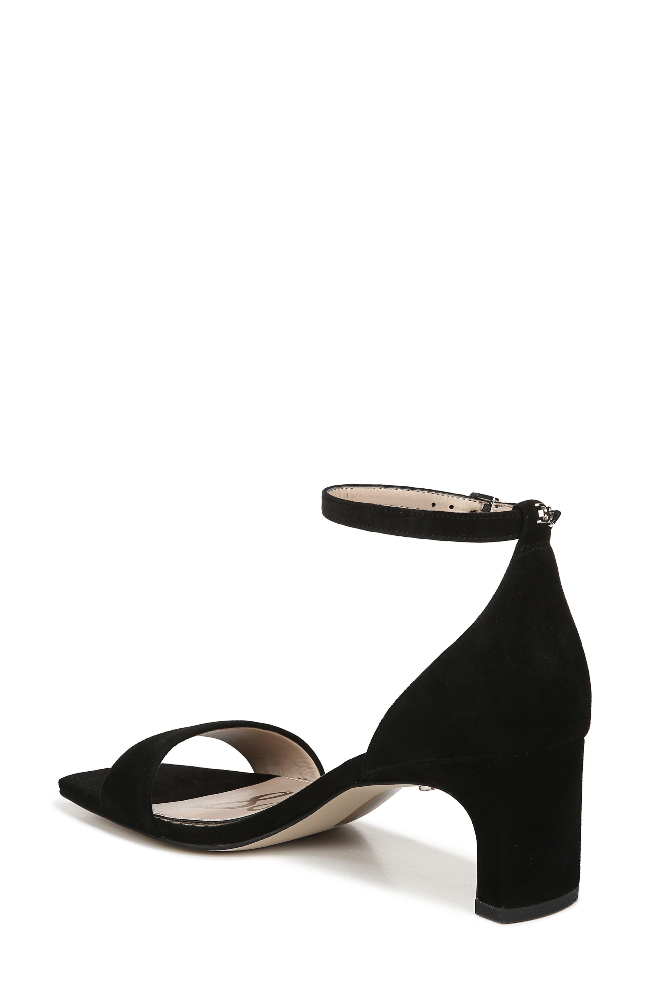 SAM EDELMAN, Holmes Ankle Strap Sandal, Alternate thumbnail 2, color, BLACK SUEDE LEATHER