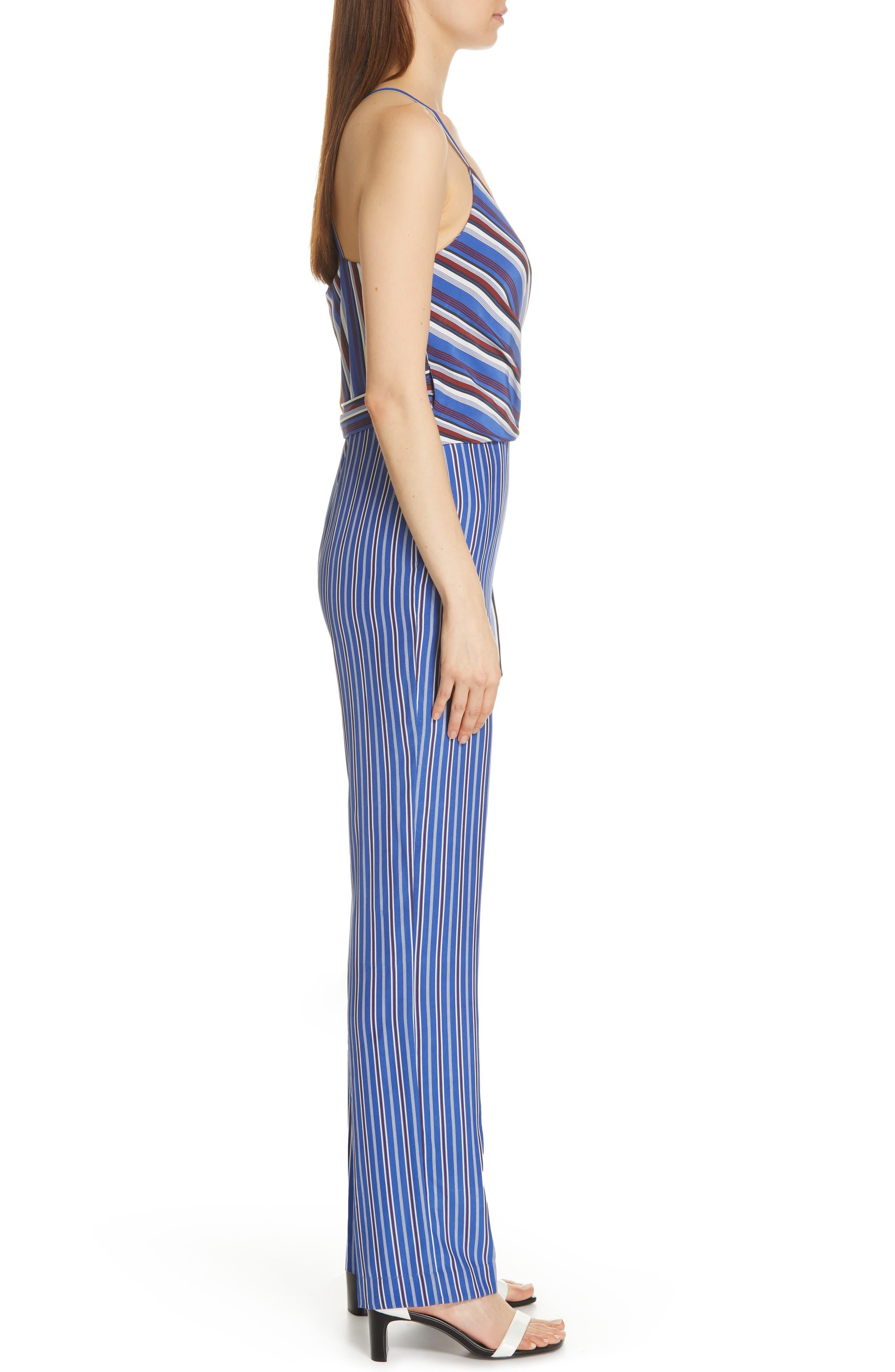 RAG & BONE, Felix Stripe Silk Jumpsuit, Alternate thumbnail 4, color, 474