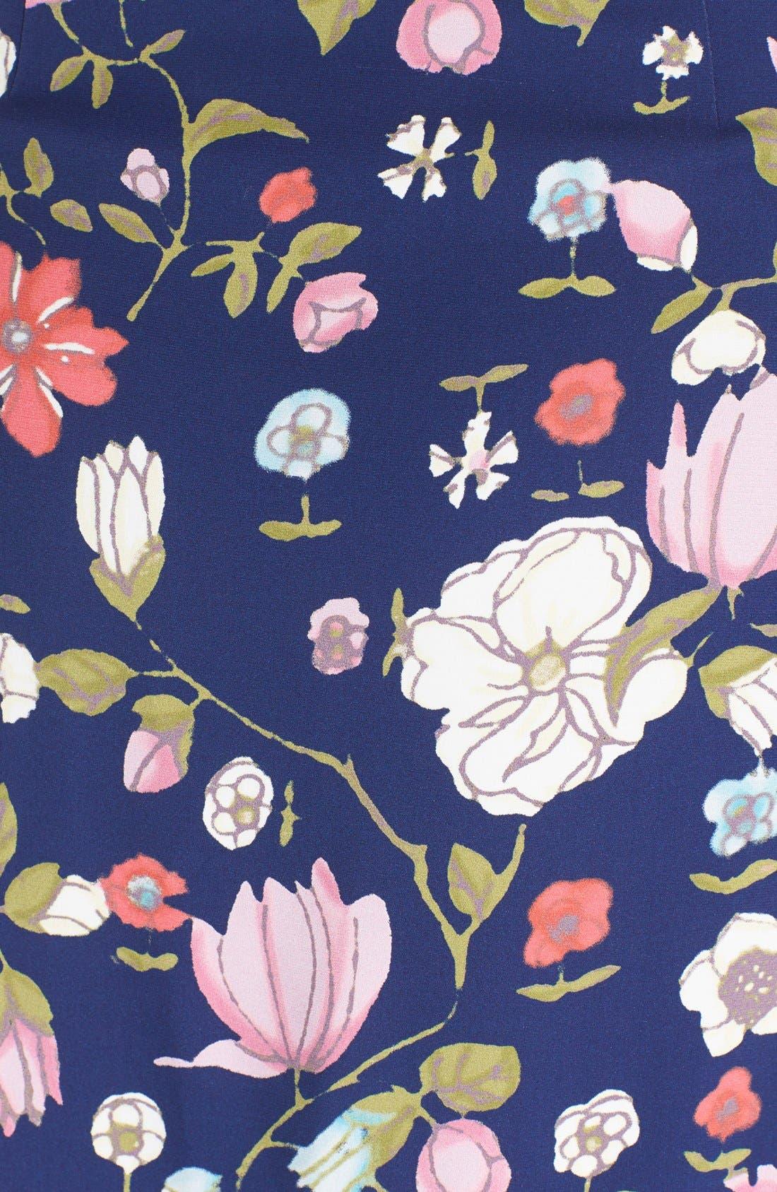REBECCA TAYLOR, Off the Shoulder Floral Print Dress, Alternate thumbnail 3, color, 510