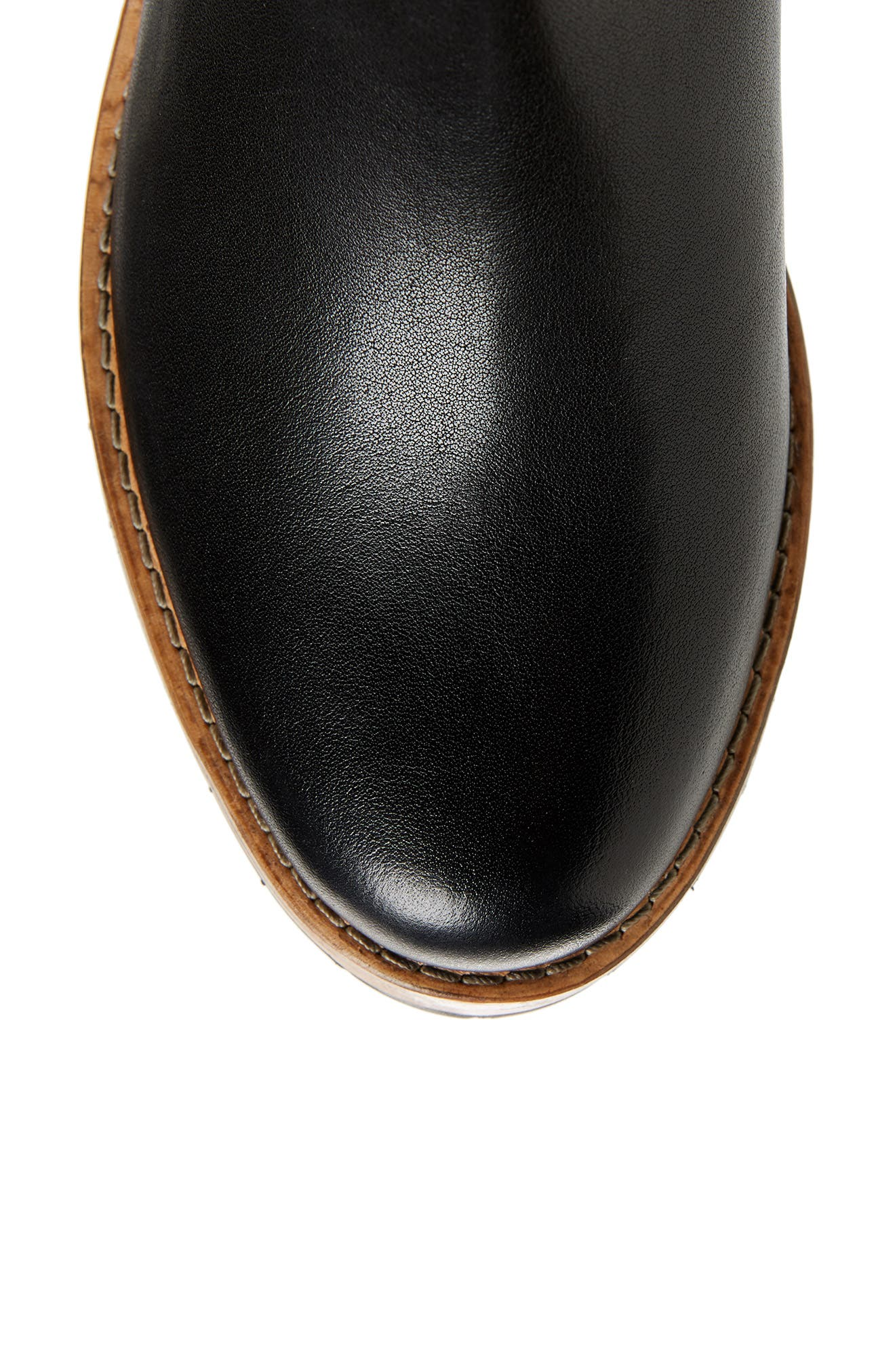 CLARKS<SUP>®</SUP>, Clarkdale Sona Boot, Alternate thumbnail 5, color, BLACK LEATHER