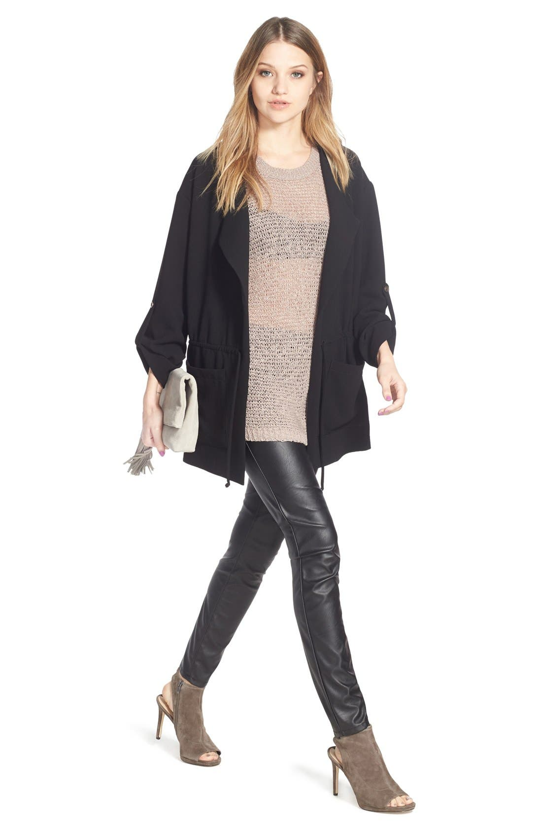 BLANKNYC, Faux Leather Skinny Pants, Alternate thumbnail 2, color, 005