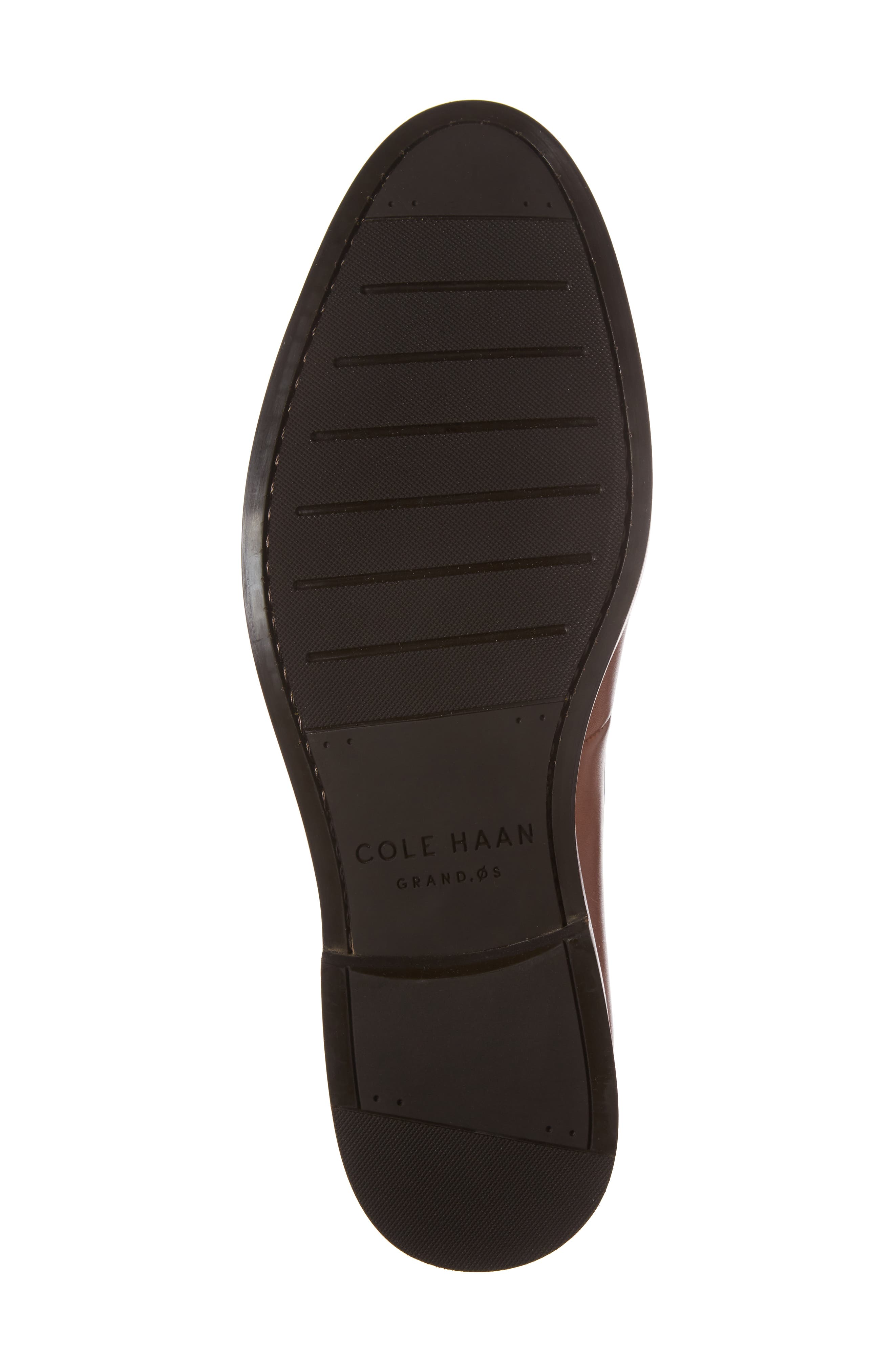 COLE HAAN, Harrison Grand Penny Loafer, Alternate thumbnail 6, color, COGNAC/ DARK NATURAL LEATHER