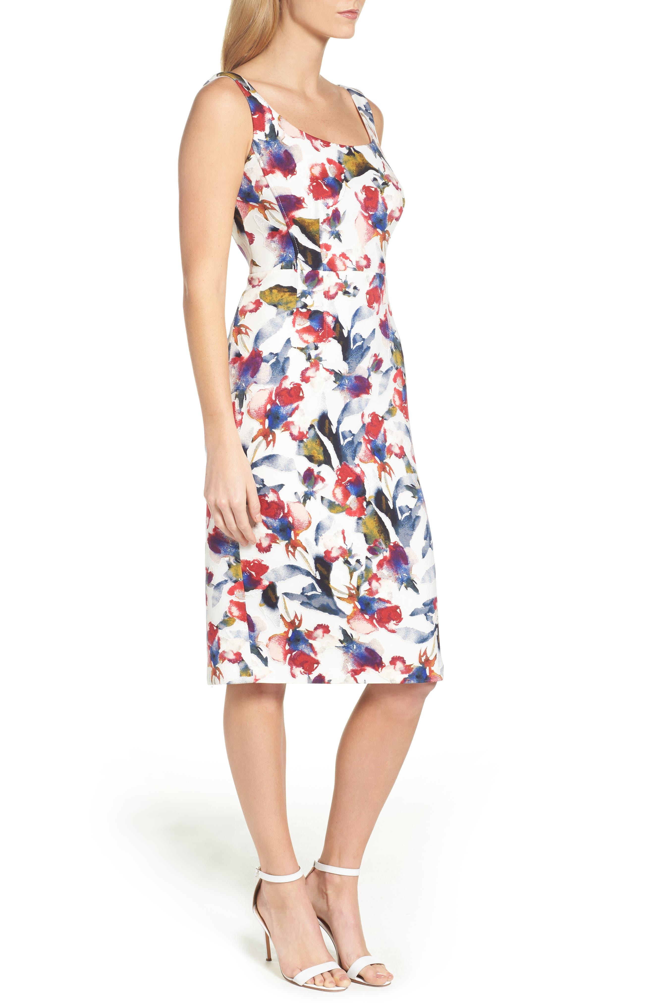 MAGGY LONDON, Tea Rose Dress, Alternate thumbnail 3, color, 145