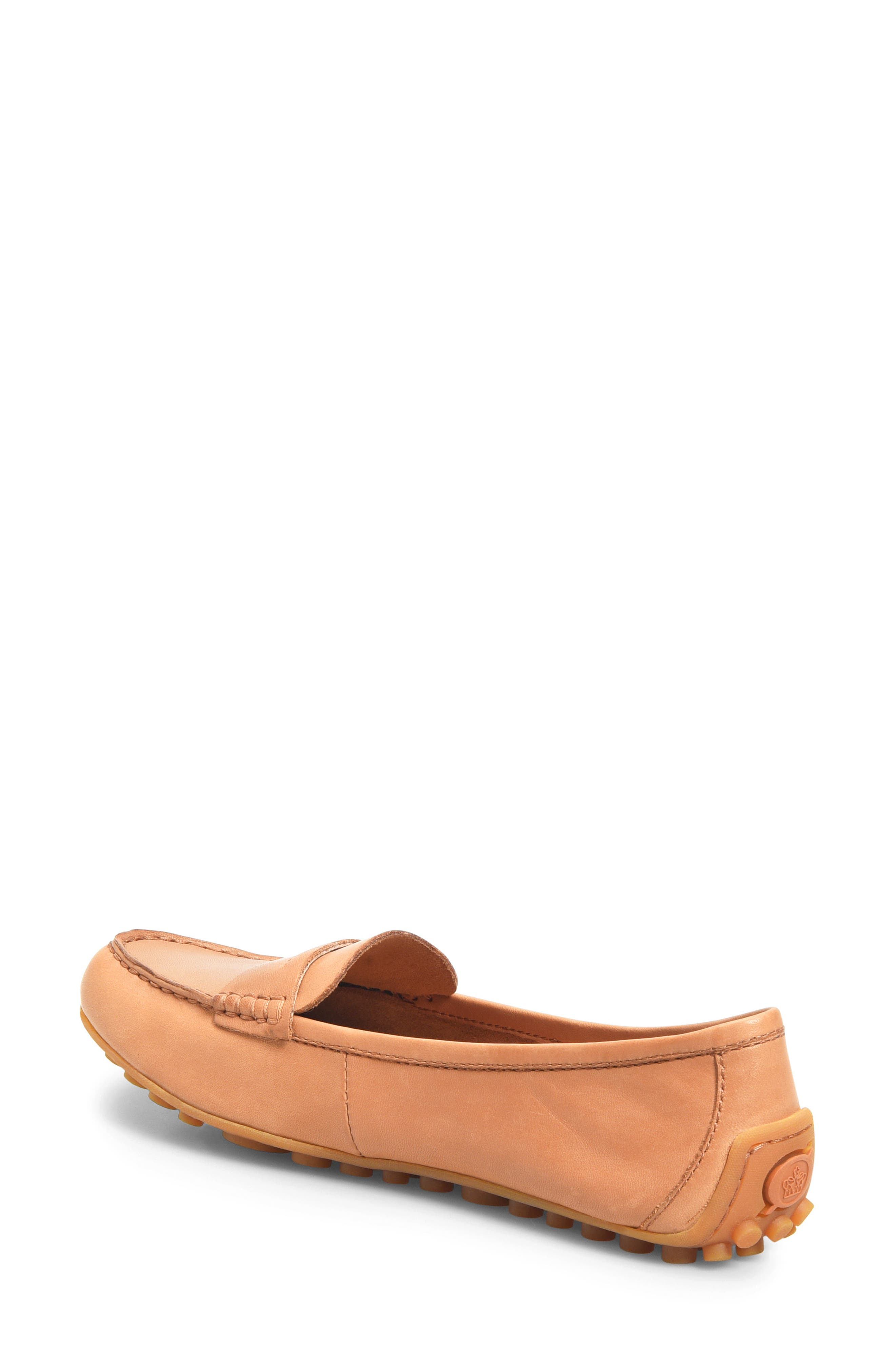 BØRN, Malena Driving Loafer, Alternate thumbnail 2, color, TAN BROWN LEATHER