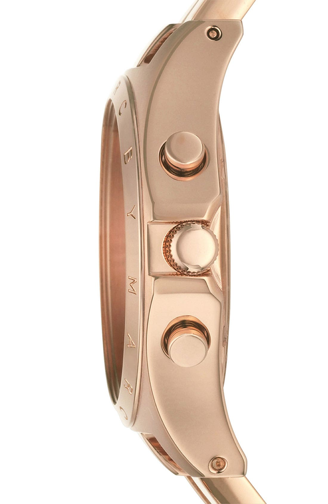 MARC JACOBS, 'Henry' Chronograph Bracelet Watch, 37mm, Alternate thumbnail 4, color, 710