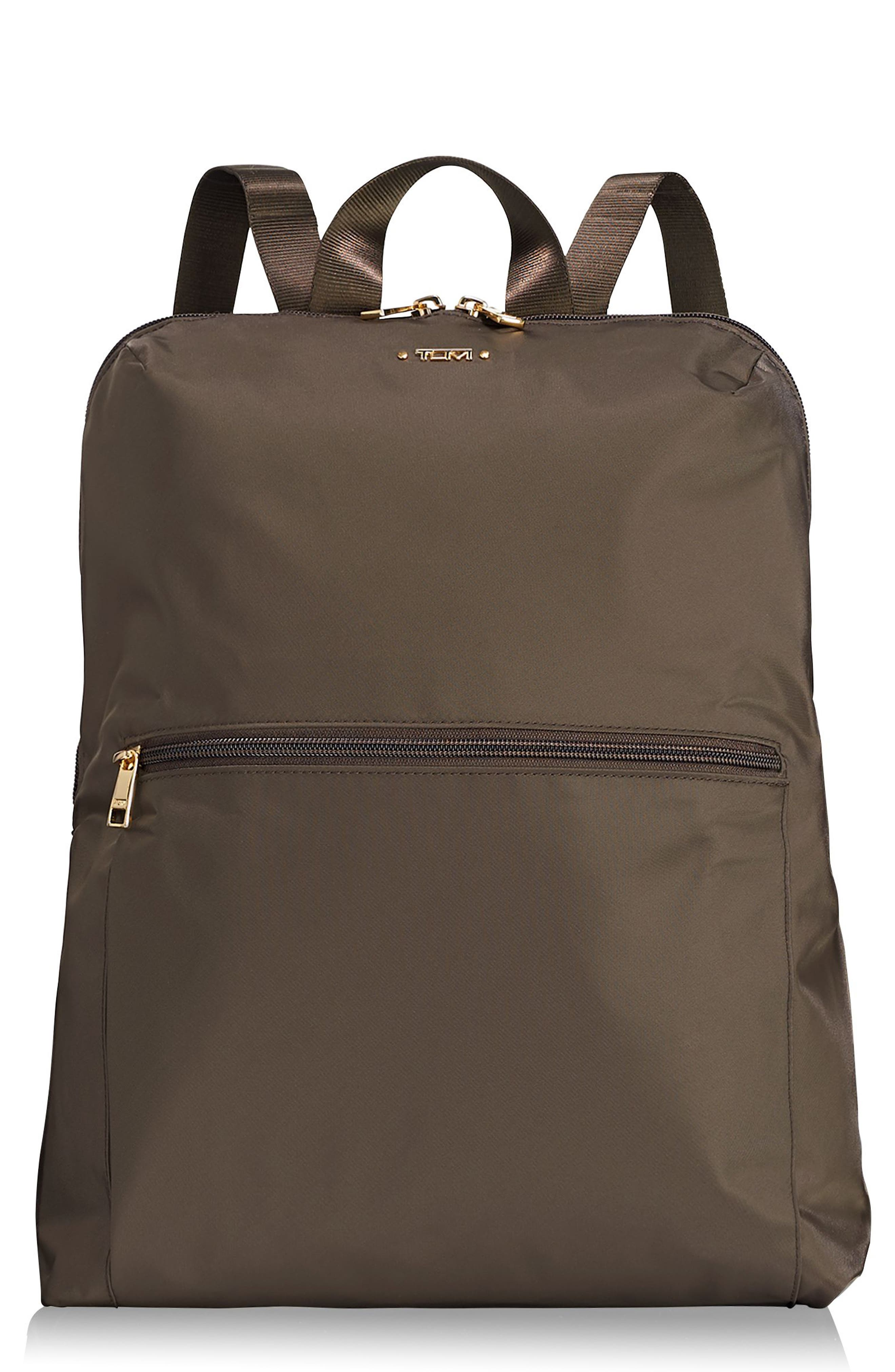TUMI, Voyageur - Just in Case Nylon Travel Backpack, Main thumbnail 1, color, MINK