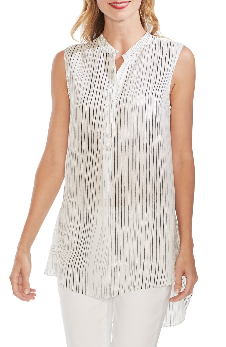 Vince Camuto Tops DELICATE STRANDS HENLEY TUNIC