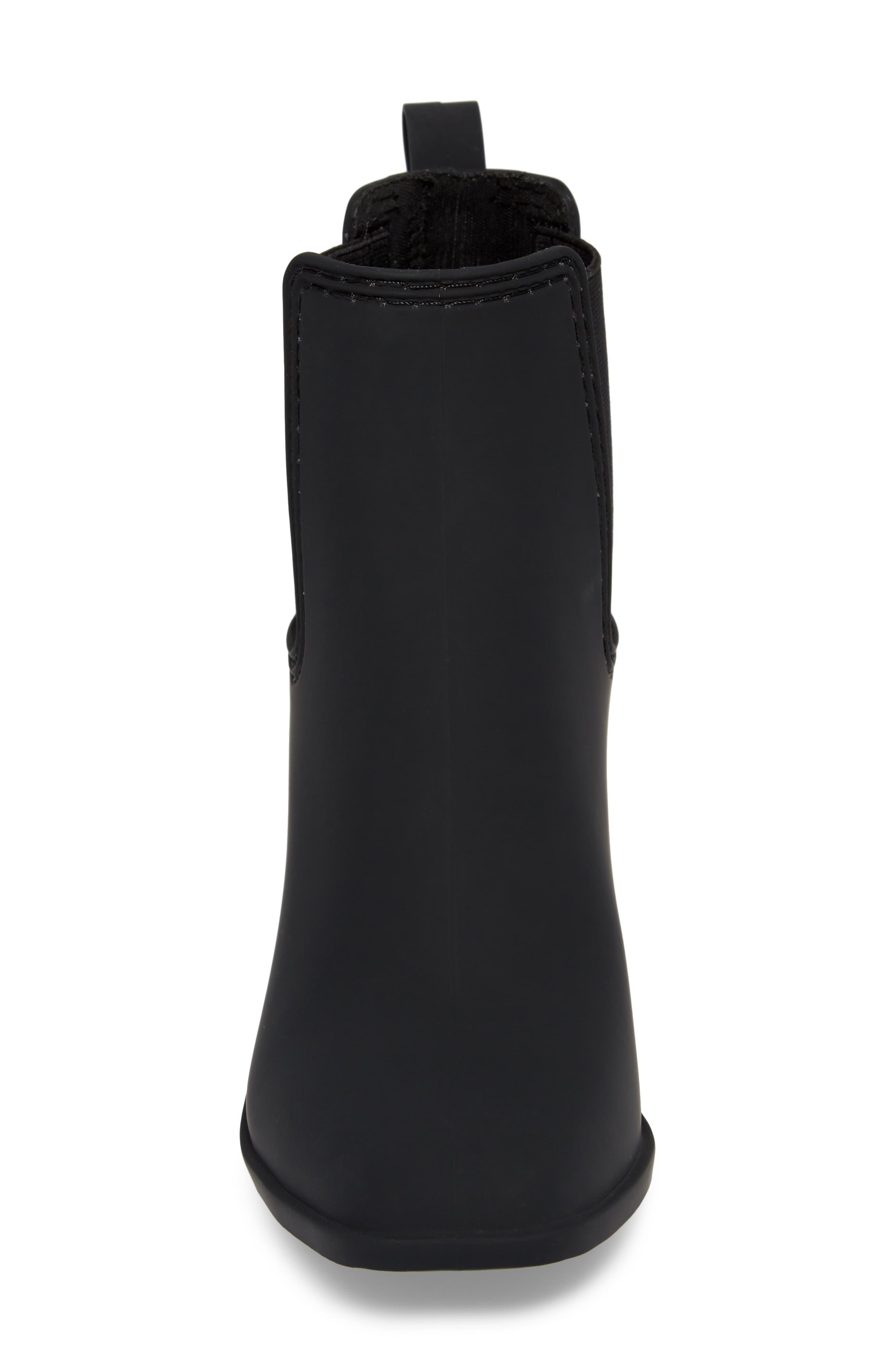 JEFFREY CAMPBELL, Hurricane Waterproof Boot, Alternate thumbnail 4, color, BLACK MATTE