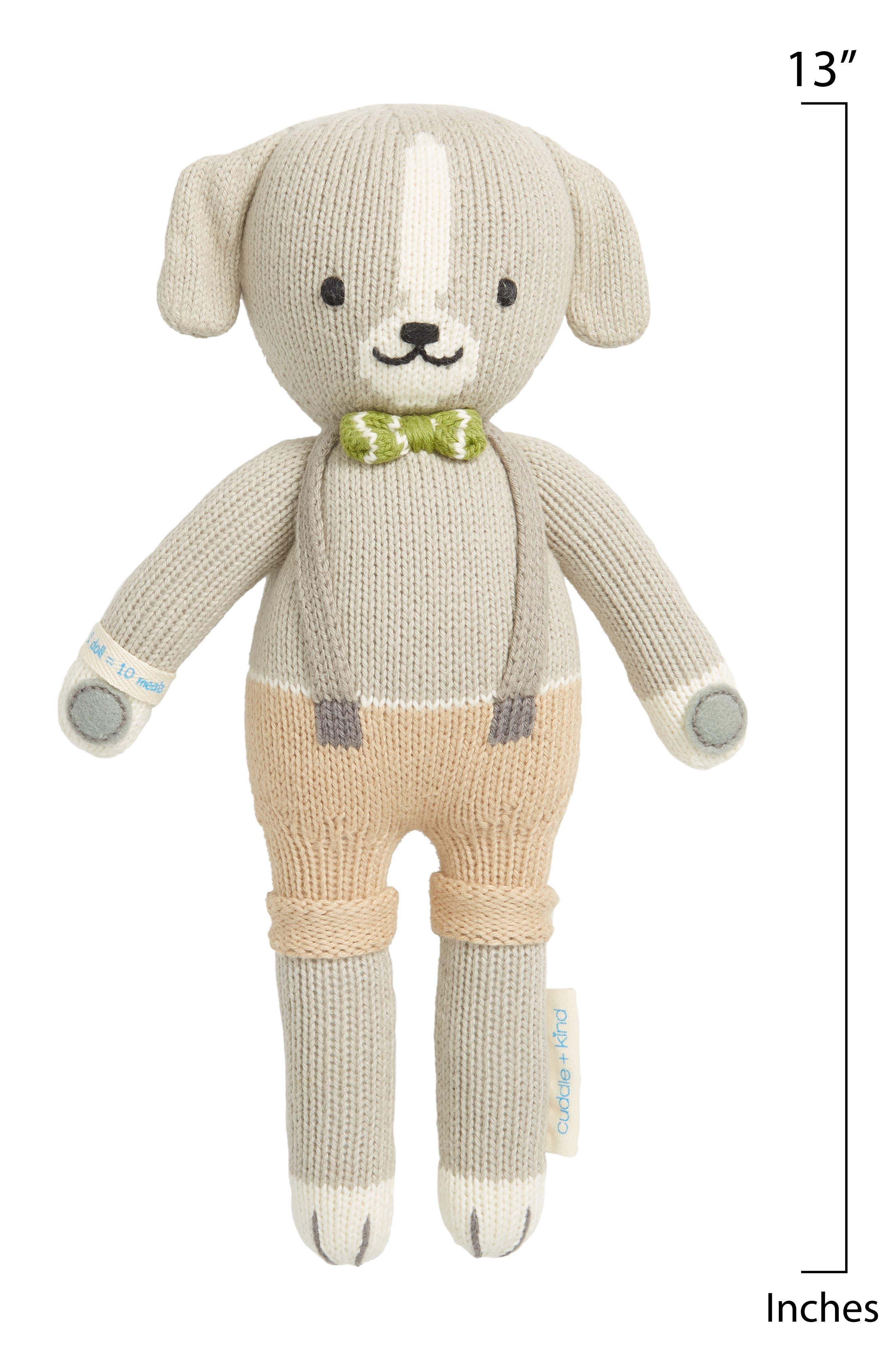 CUDDLE+KIND, cuddle + kind Noah the Dog Stuffed Animal, Alternate thumbnail 2, color, GREY
