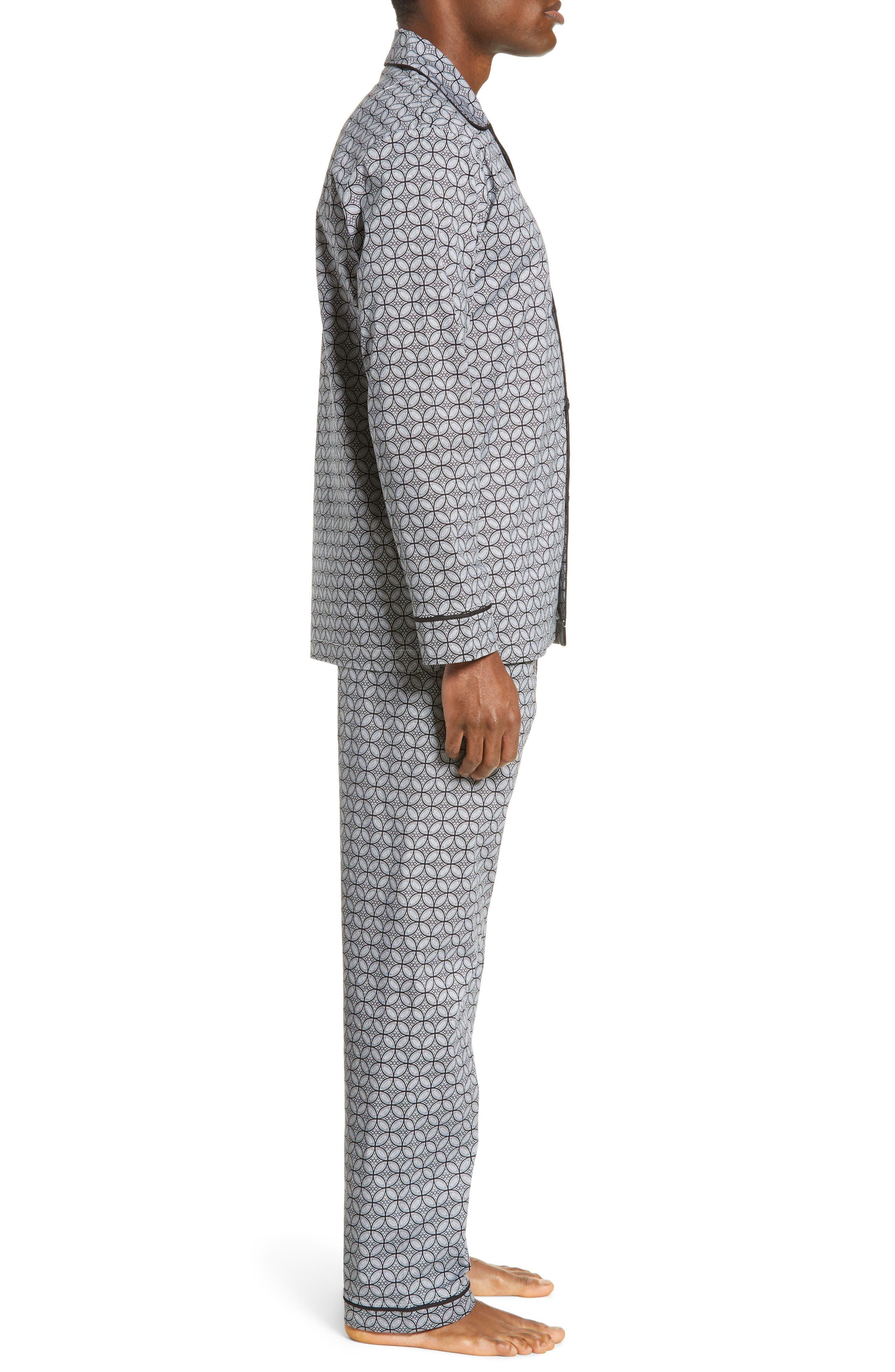 MAJESTIC INTERNATIONAL, Marbella Stretch Sateen Pajamas, Alternate thumbnail 3, color, BLACK