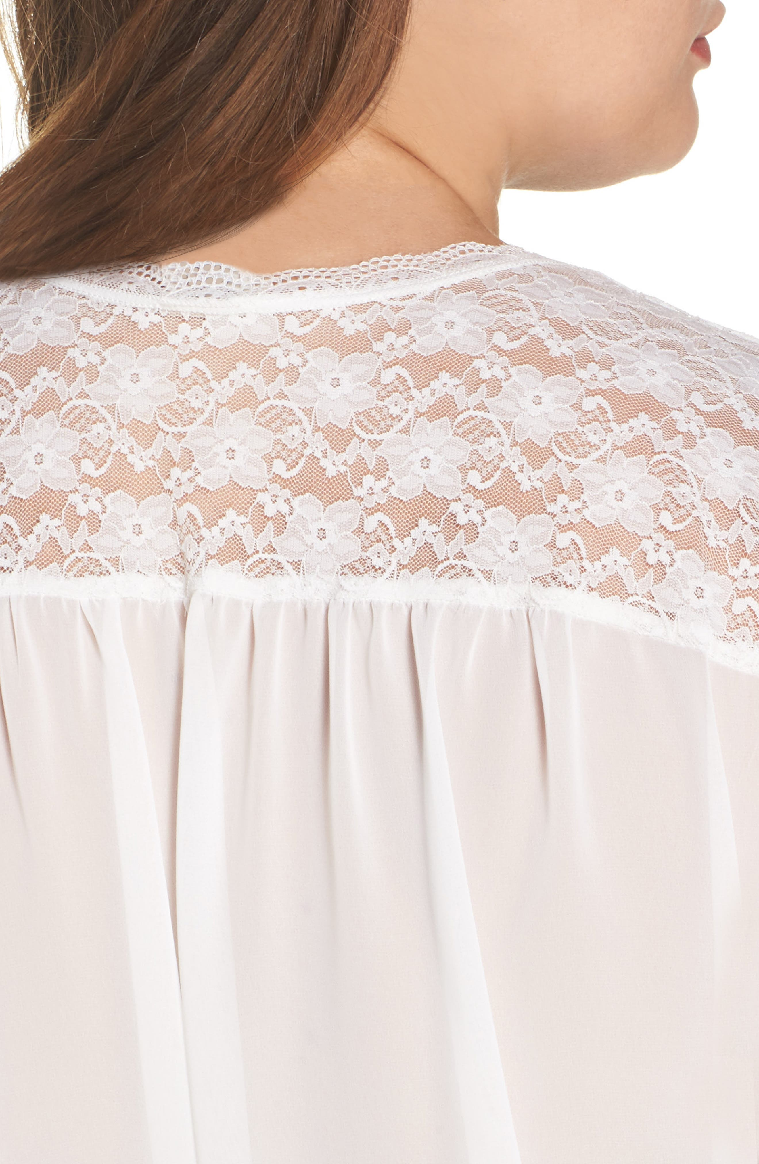 IN BLOOM BY JONQUIL, Chiffon Robe, Alternate thumbnail 4, color, IVORY