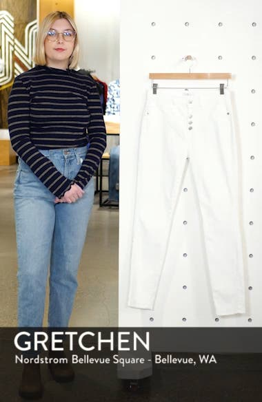 Button Fly High Waist Ankle Skinny Jeans, sales video thumbnail