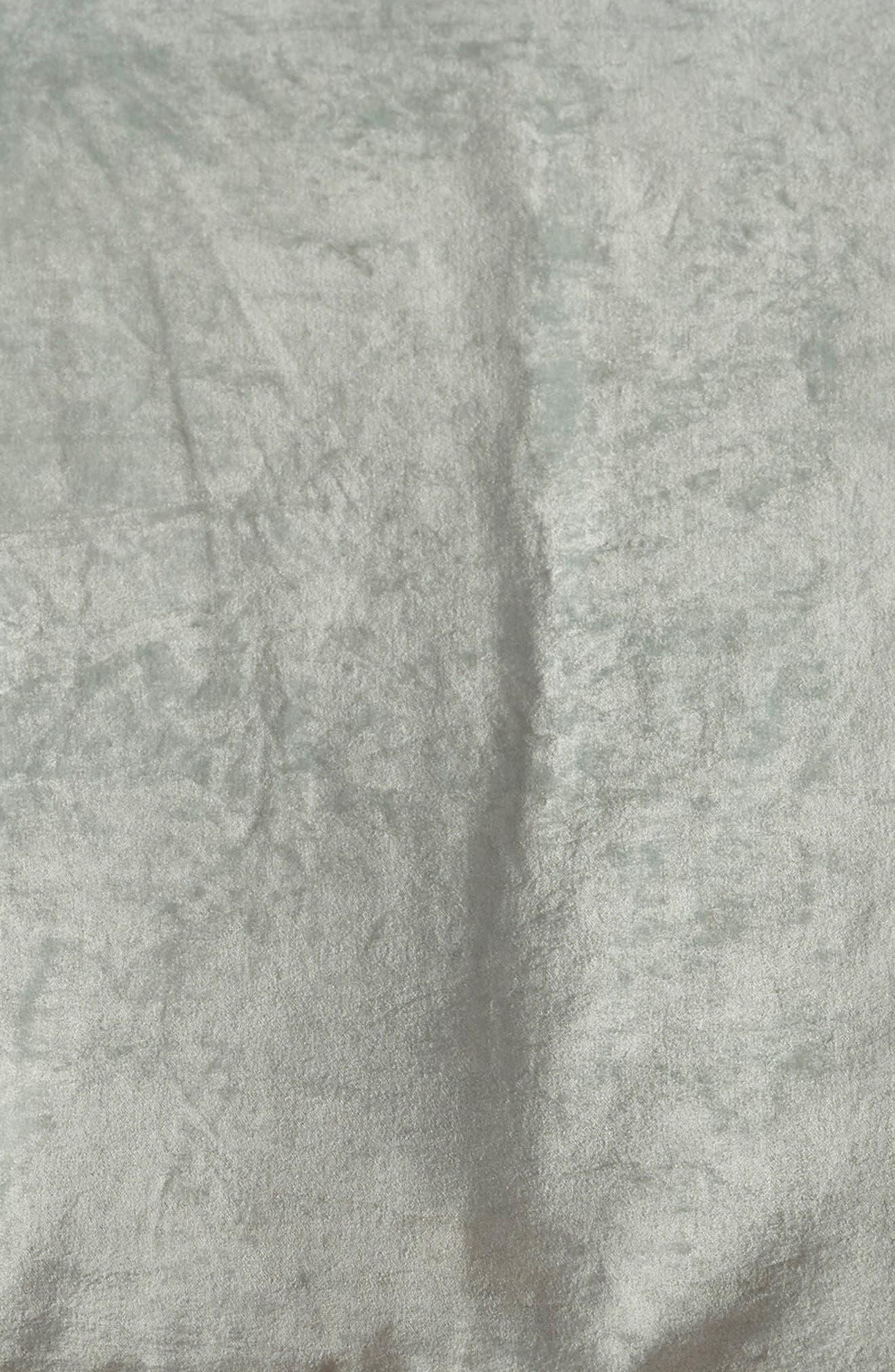 NORDSTROM AT HOME, Shimmer Velvet Duvet Cover, Alternate thumbnail 3, color, TEAL STEAM