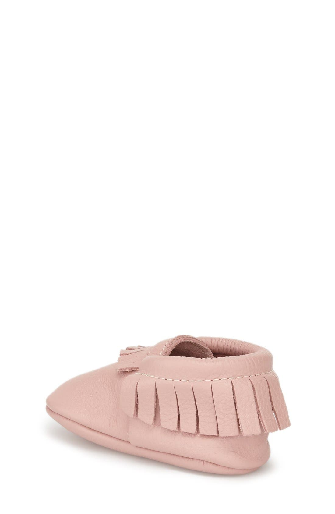 FRESHLY PICKED, Classic Moccasin, Alternate thumbnail 3, color, BLUSH LEATHER