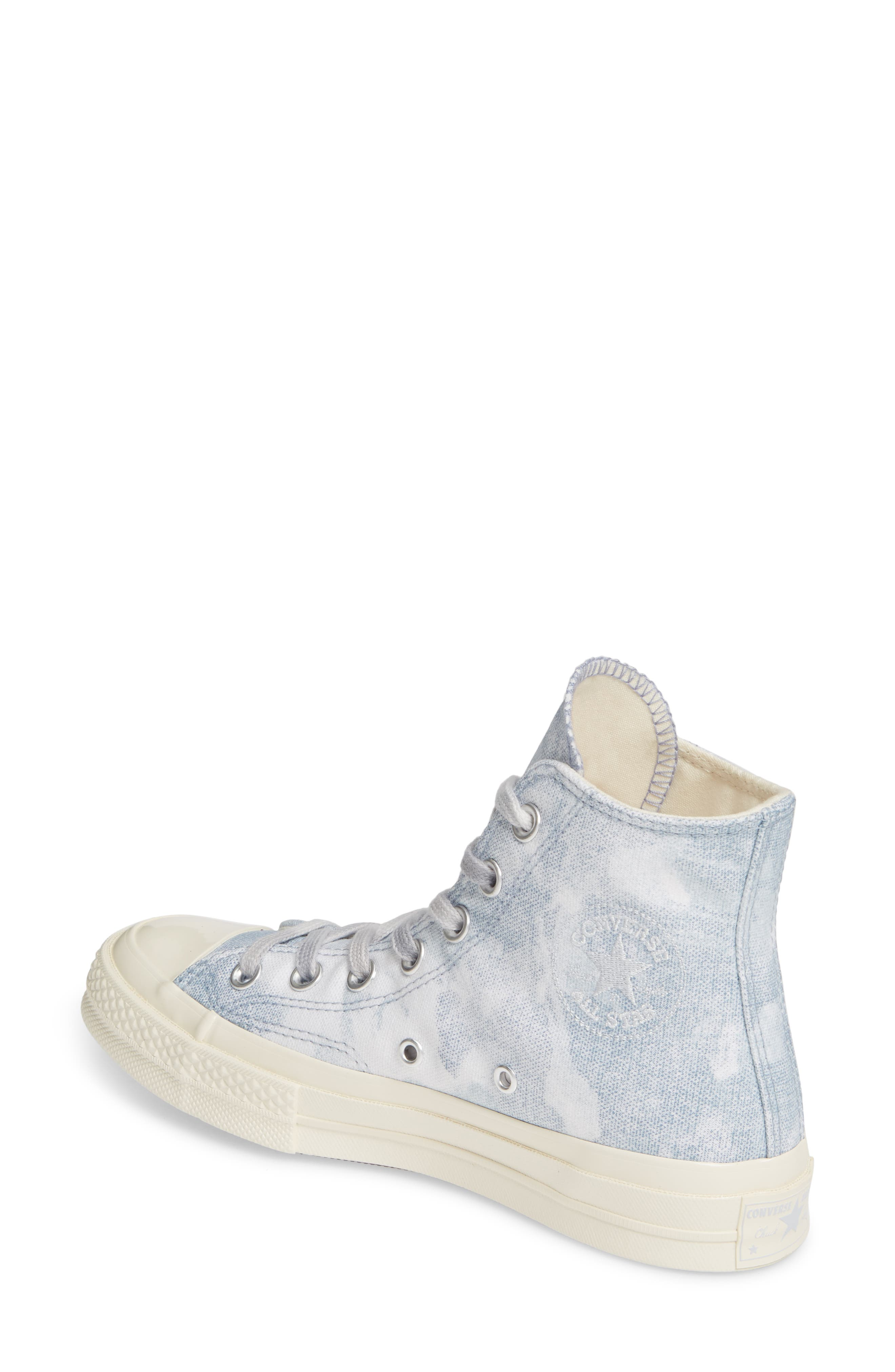 CONVERSE, Chuck Taylor<sup>®</sup> All Star<sup>®</sup> 70 High Top Sneaker, Alternate thumbnail 2, color, INDIGO FOG/ PLATINUM/ EGRET