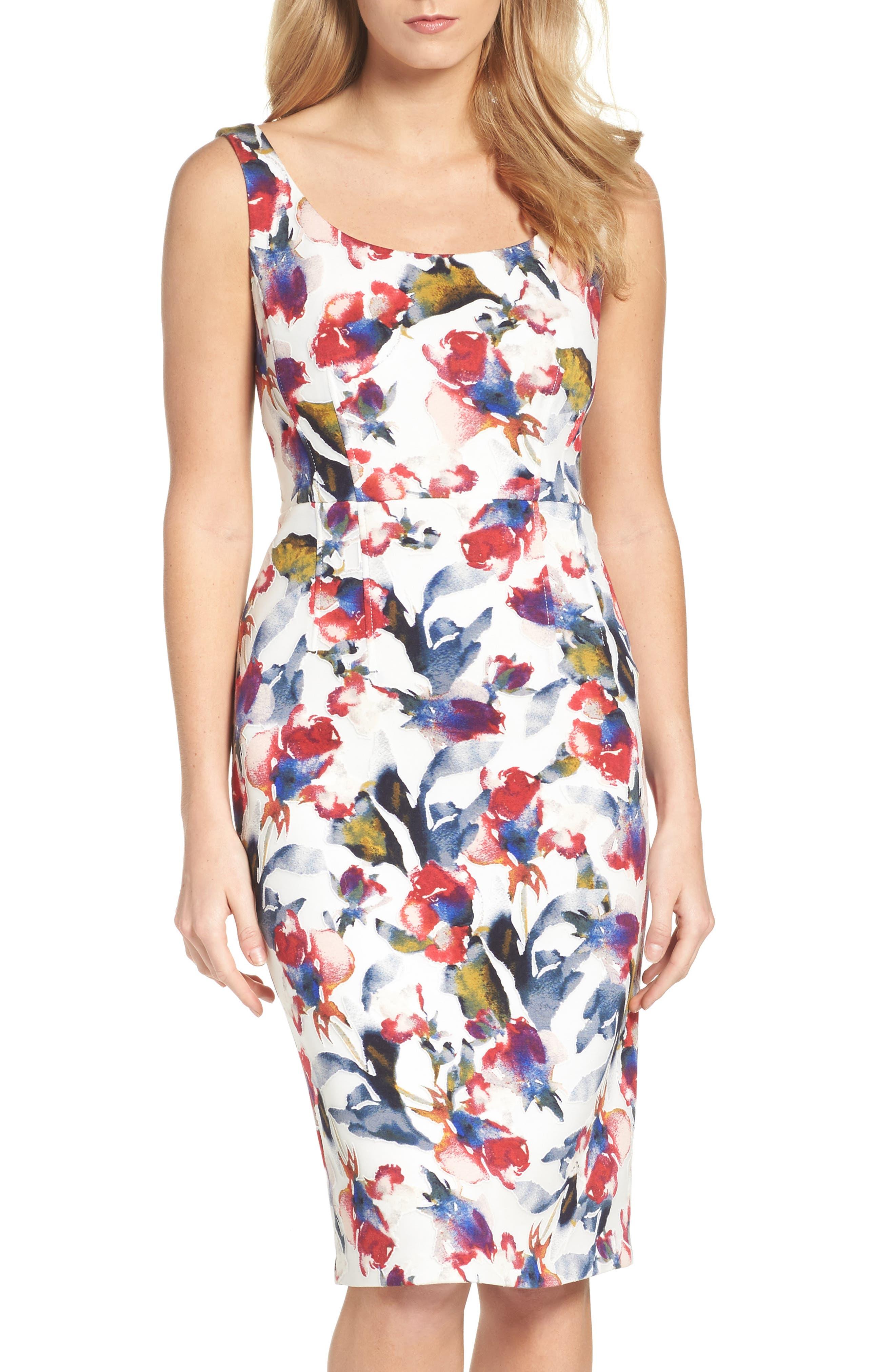 MAGGY LONDON Tea Rose Dress, Main, color, 145