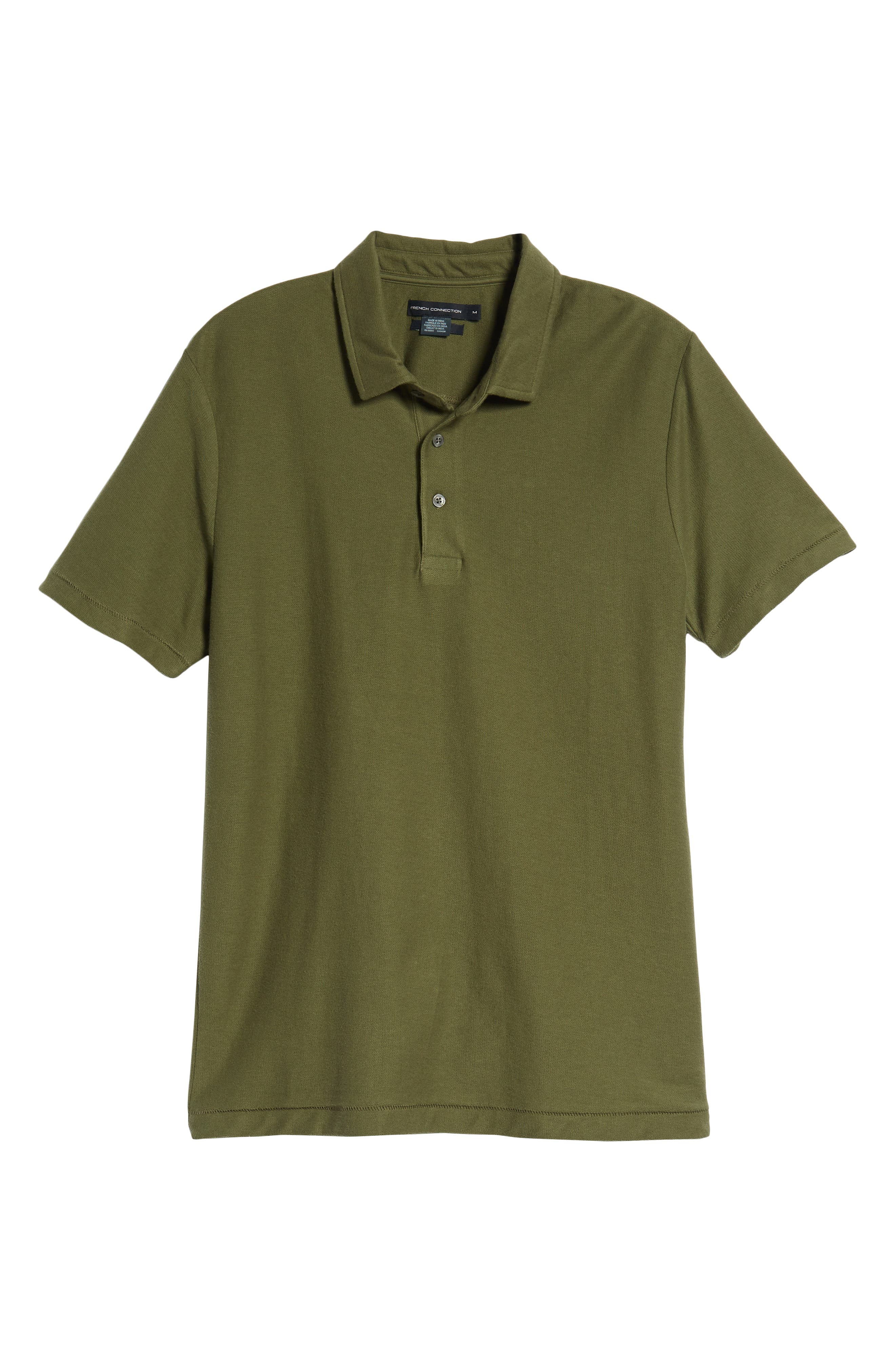 FRENCH CONNECTION, Solid Polo, Alternate thumbnail 6, color, 301