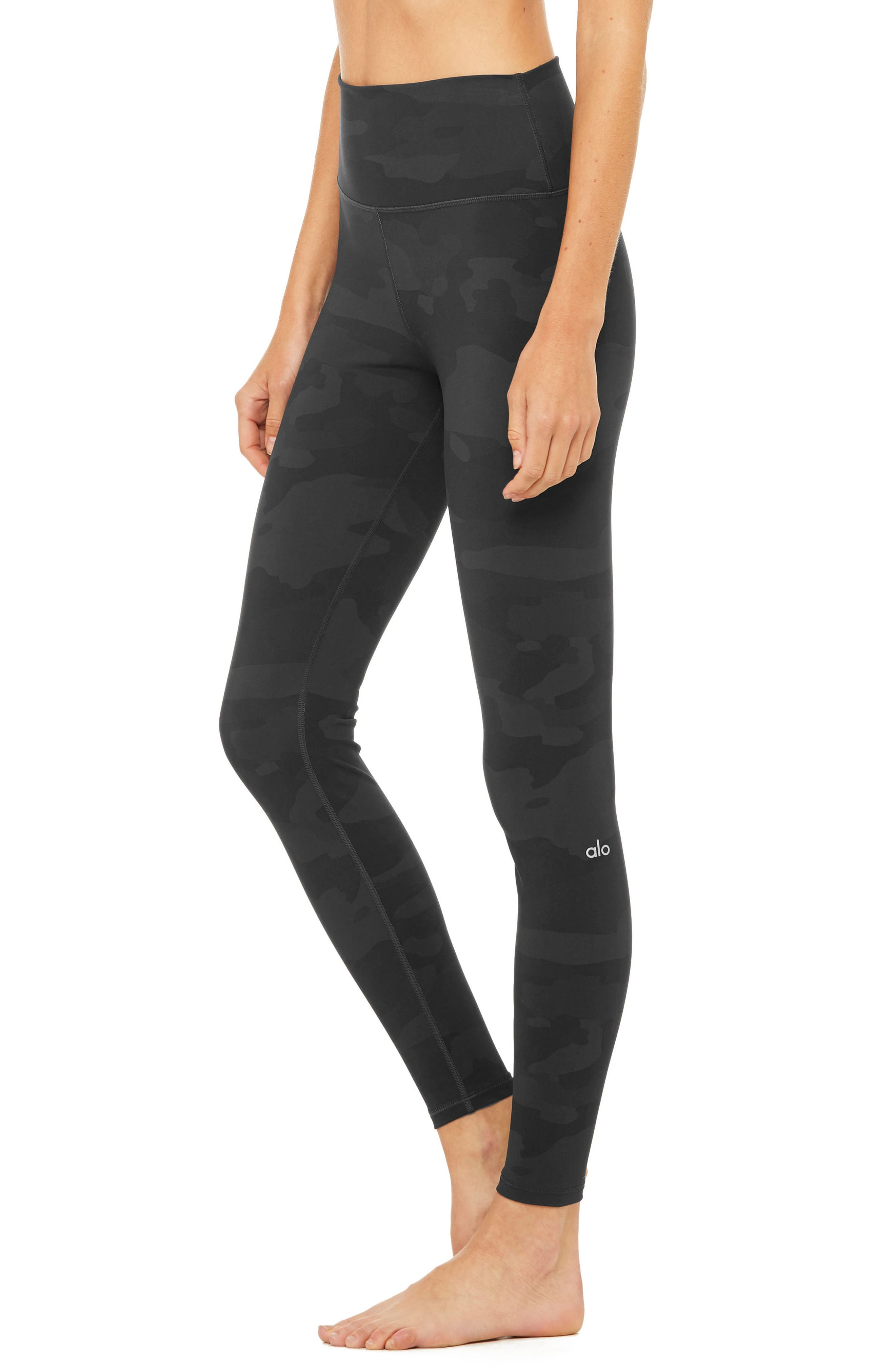 ALO, Vapor High Waist Leggings, Alternate thumbnail 3, color, 011