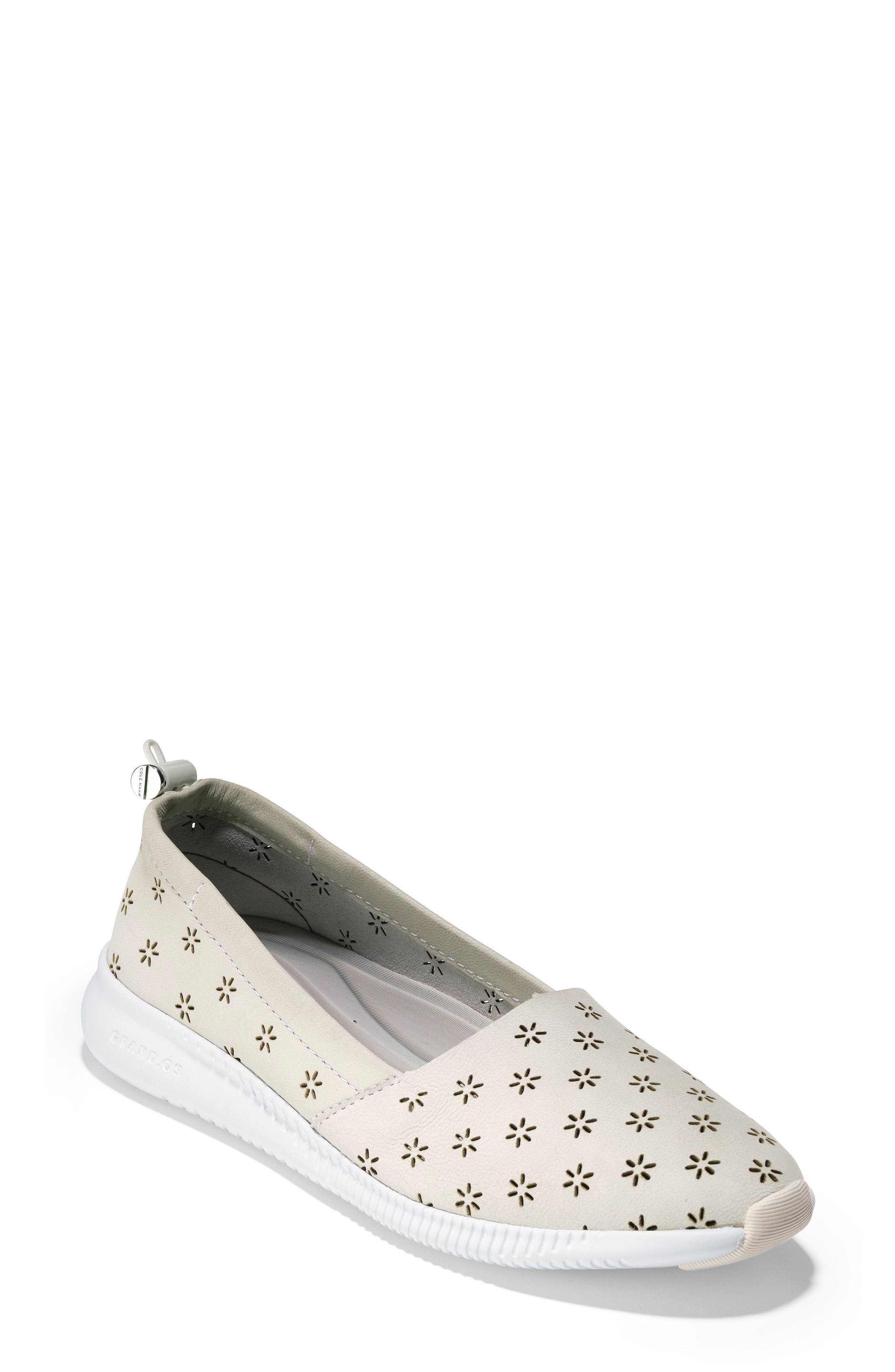Cole Haan Studiogrand Perforated Slip-On, White