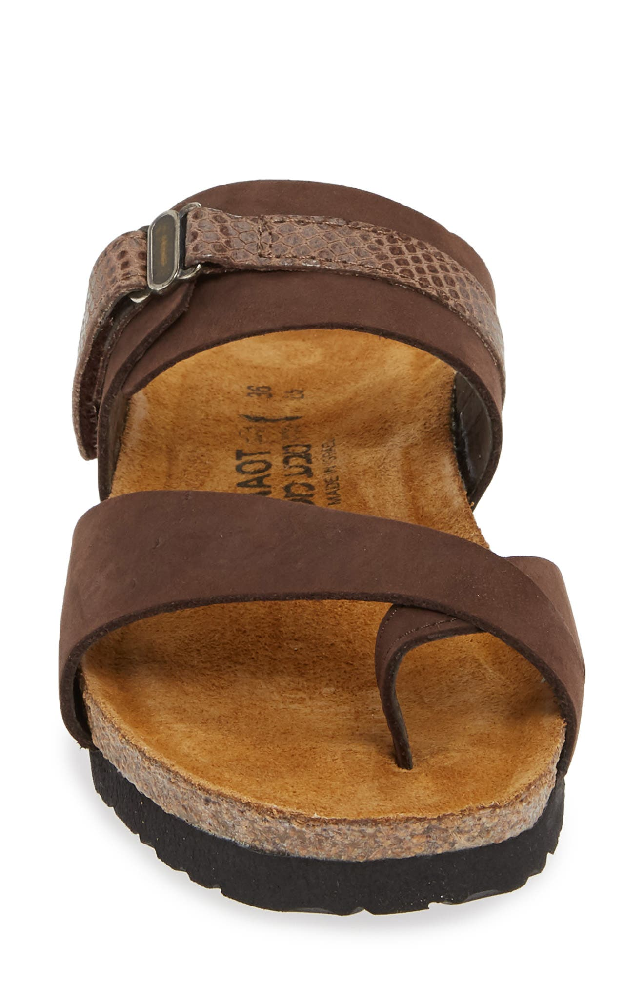 NAOT, Jessica Sandal, Alternate thumbnail 4, color, COFFEE BEAN NUBUCK LEATHER