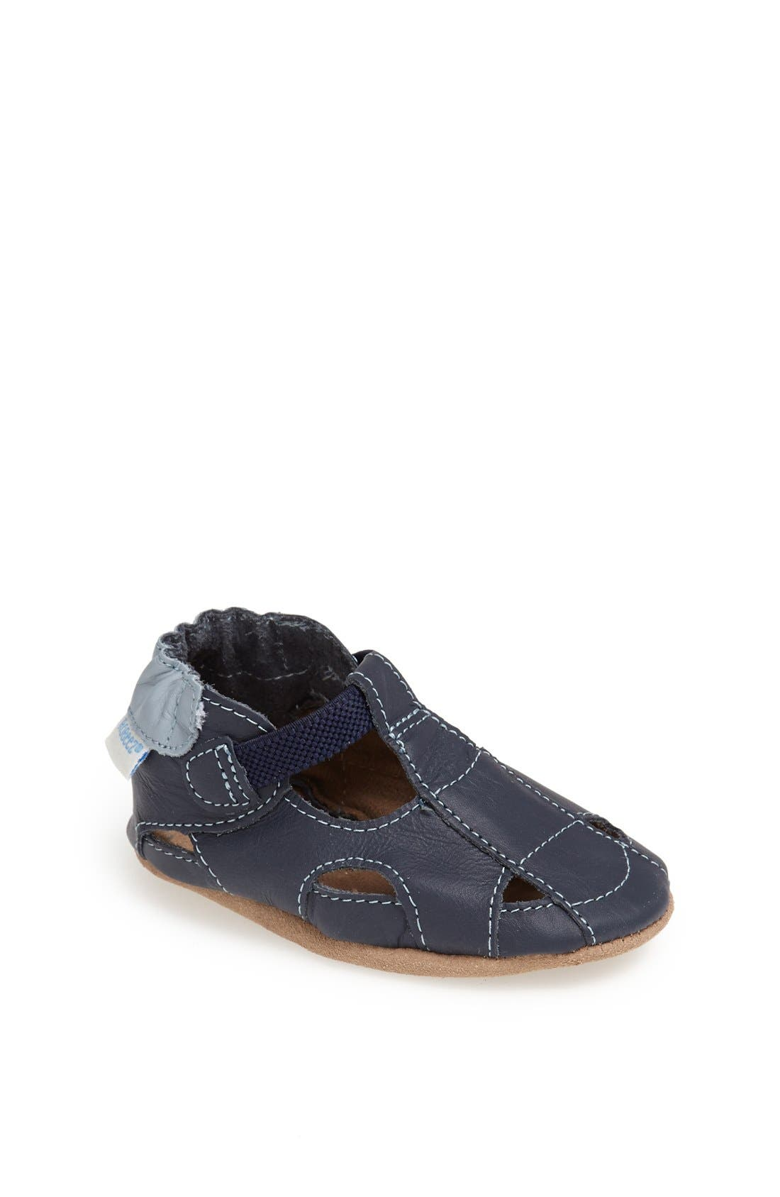 ROBEEZ<SUP>®</SUP> Fisherman Sandal, Main, color, NAVY