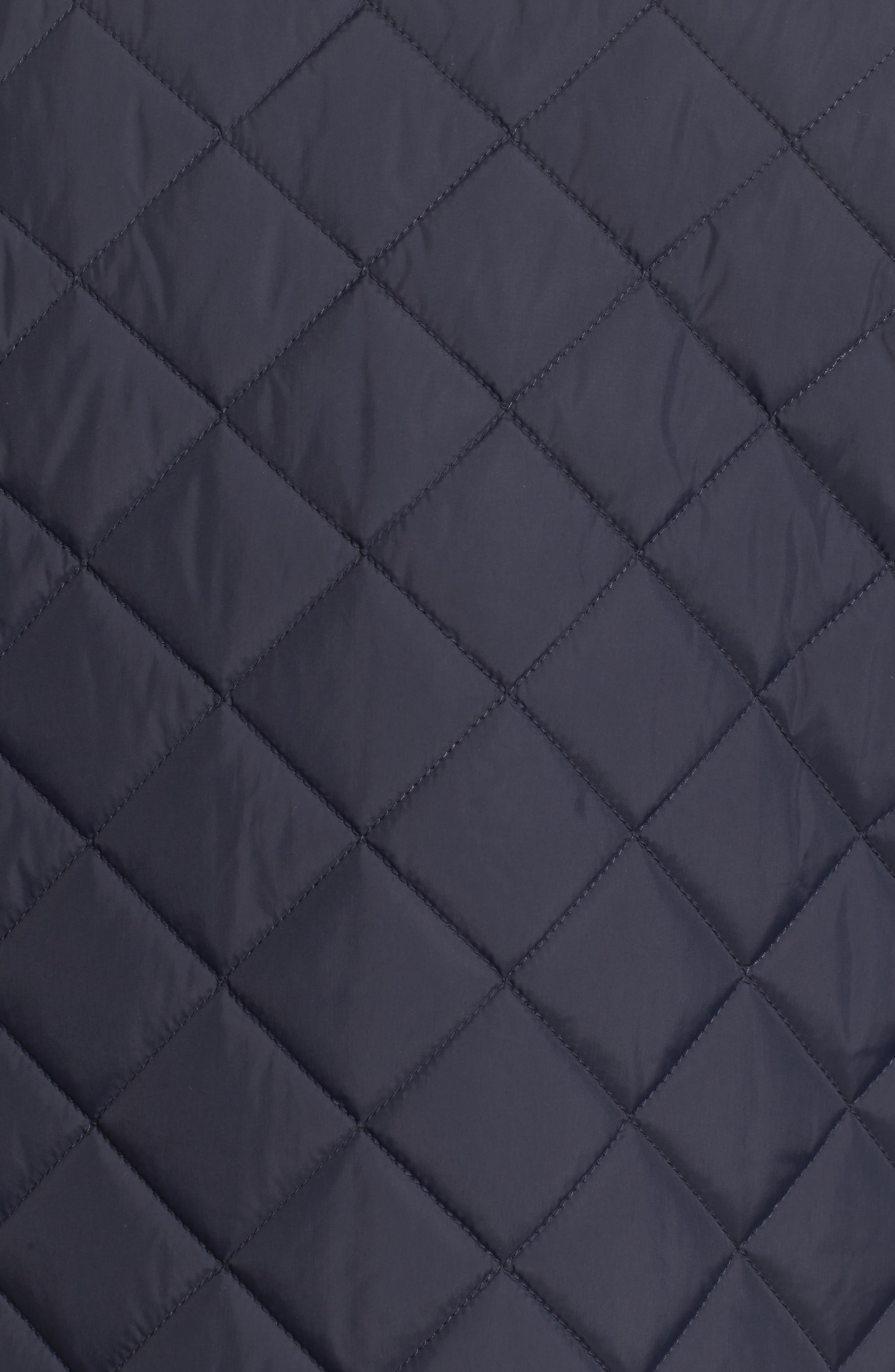 VINCE CAMUTO, Diamond Quilted Full Zip Jacket, Alternate thumbnail 8, color, NAVY