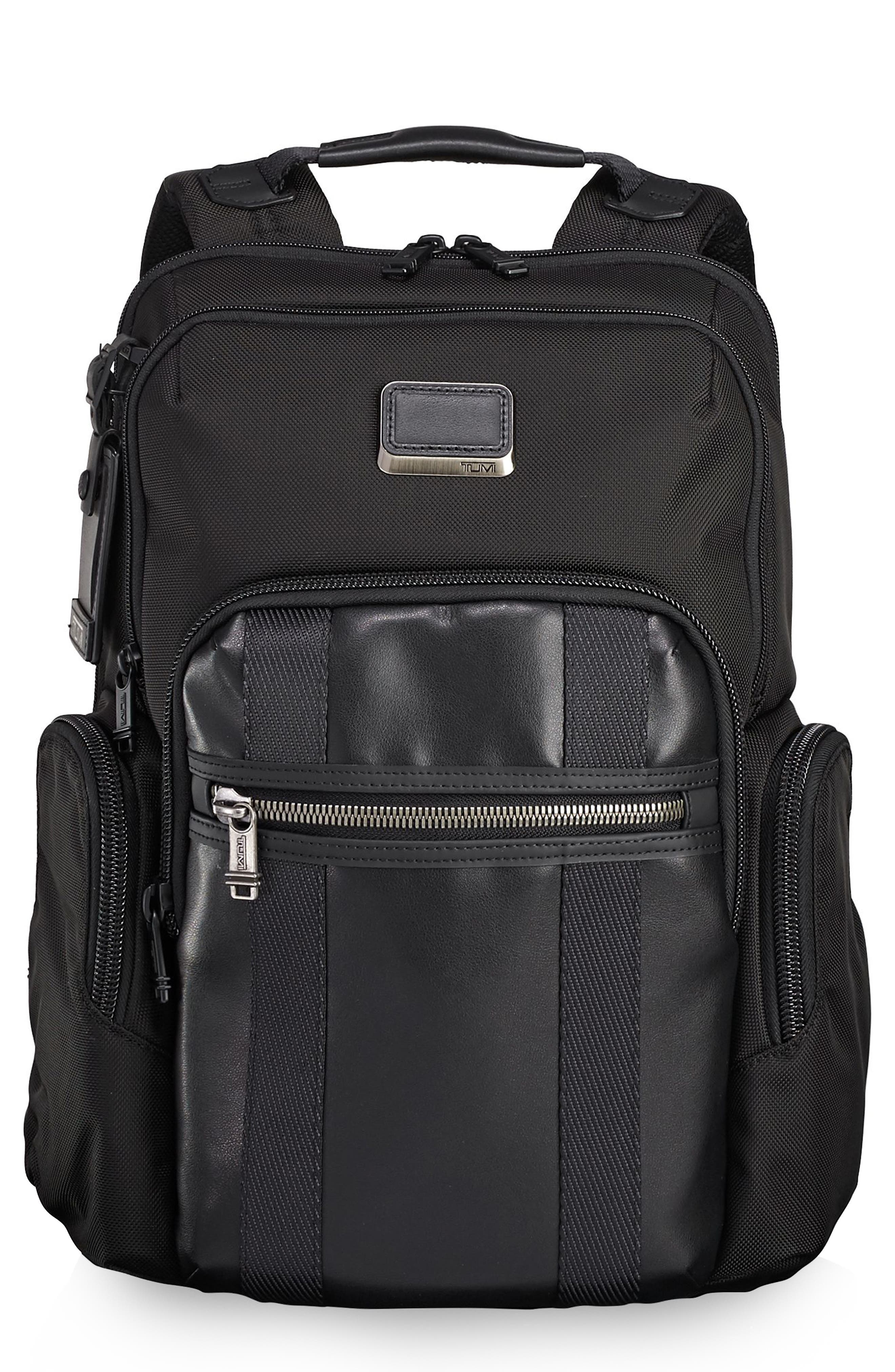 TUMI Alpha Bravo - Nellis Backpack, Main, color, BLACK