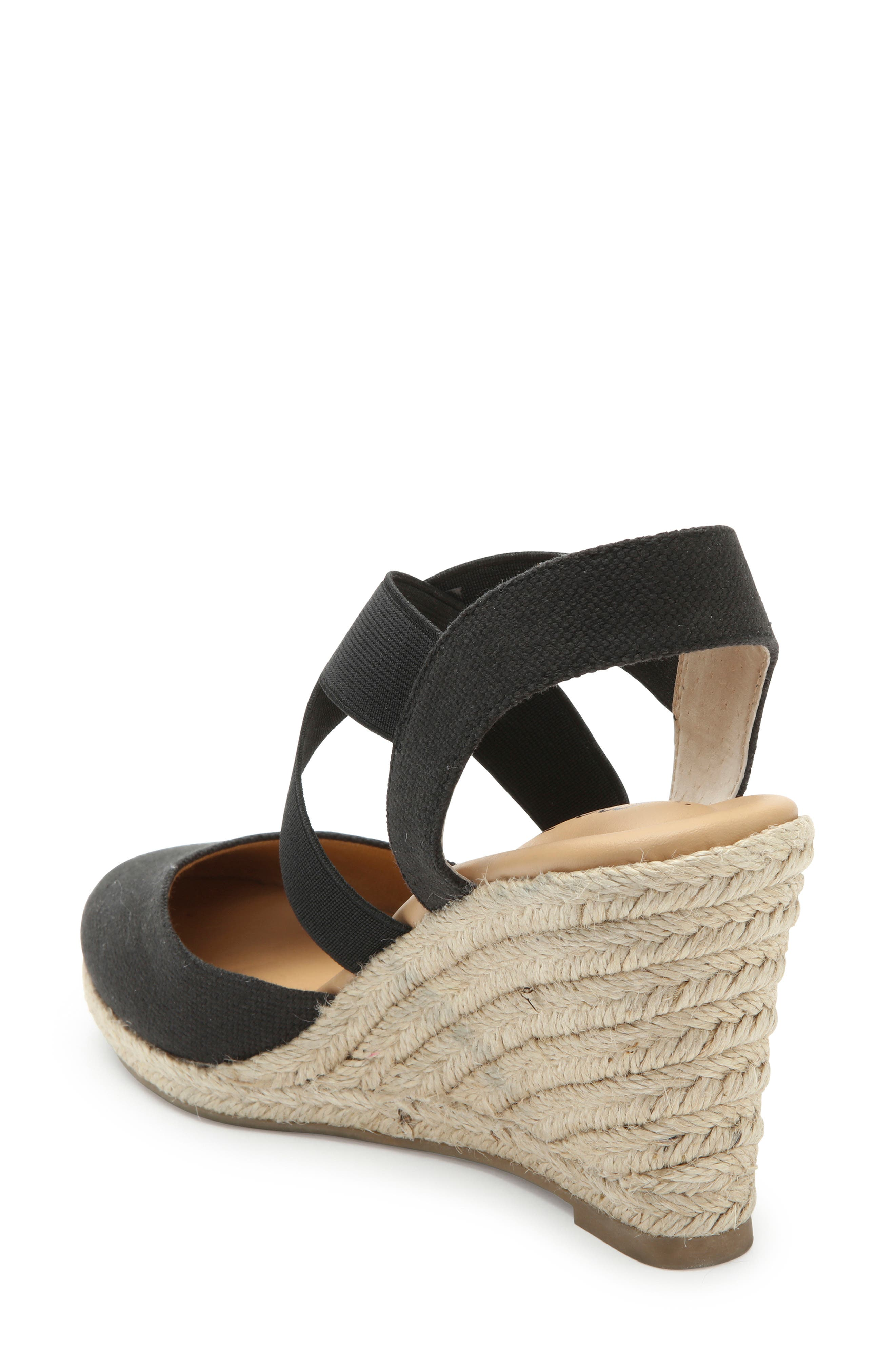 ME TOO, Brinley Espadrille Wedge, Alternate thumbnail 2, color, BLACK CANVAS