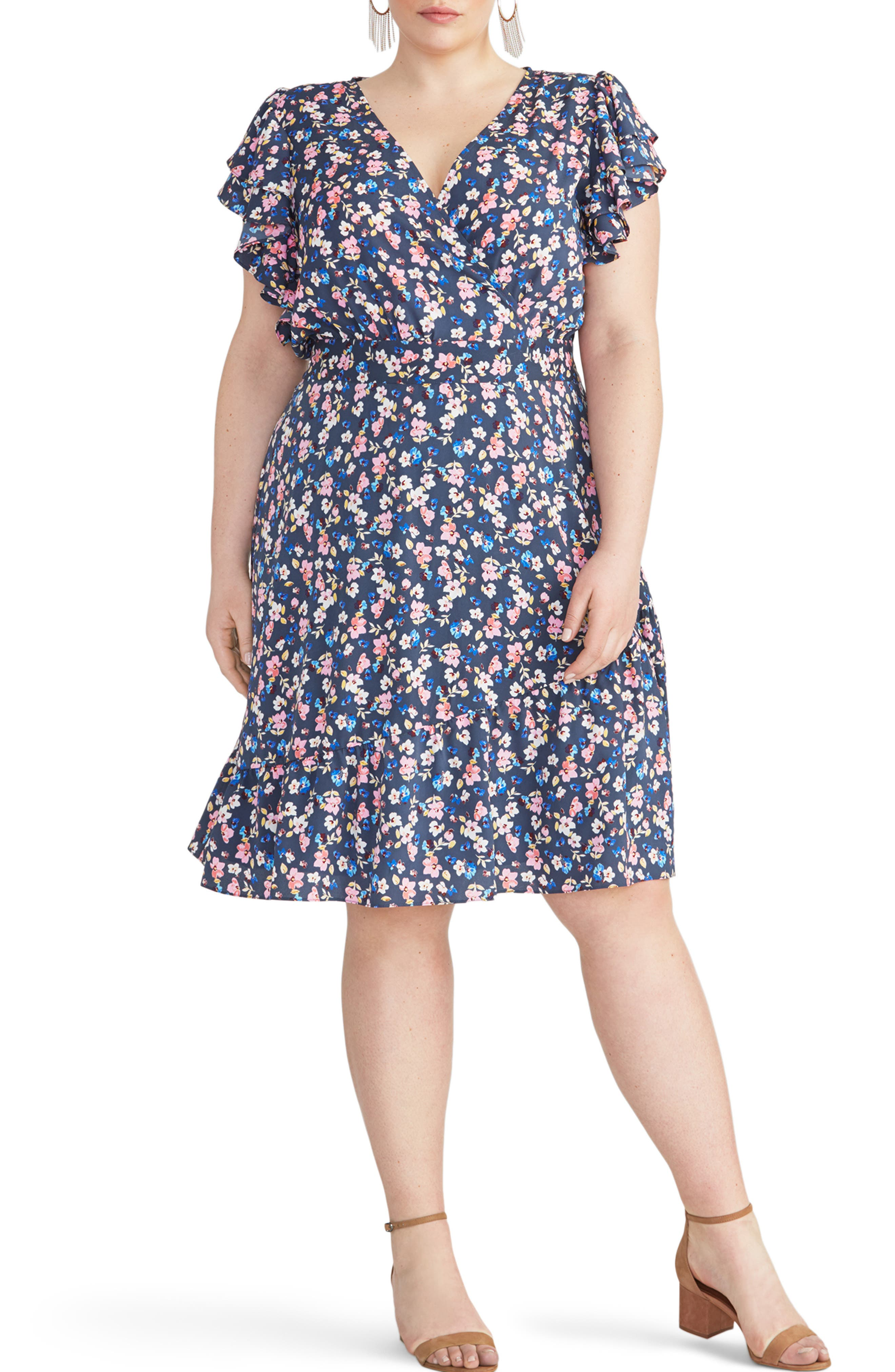 Plus Size Rachel Rachel Roy Easy Crossover Dress, Blue