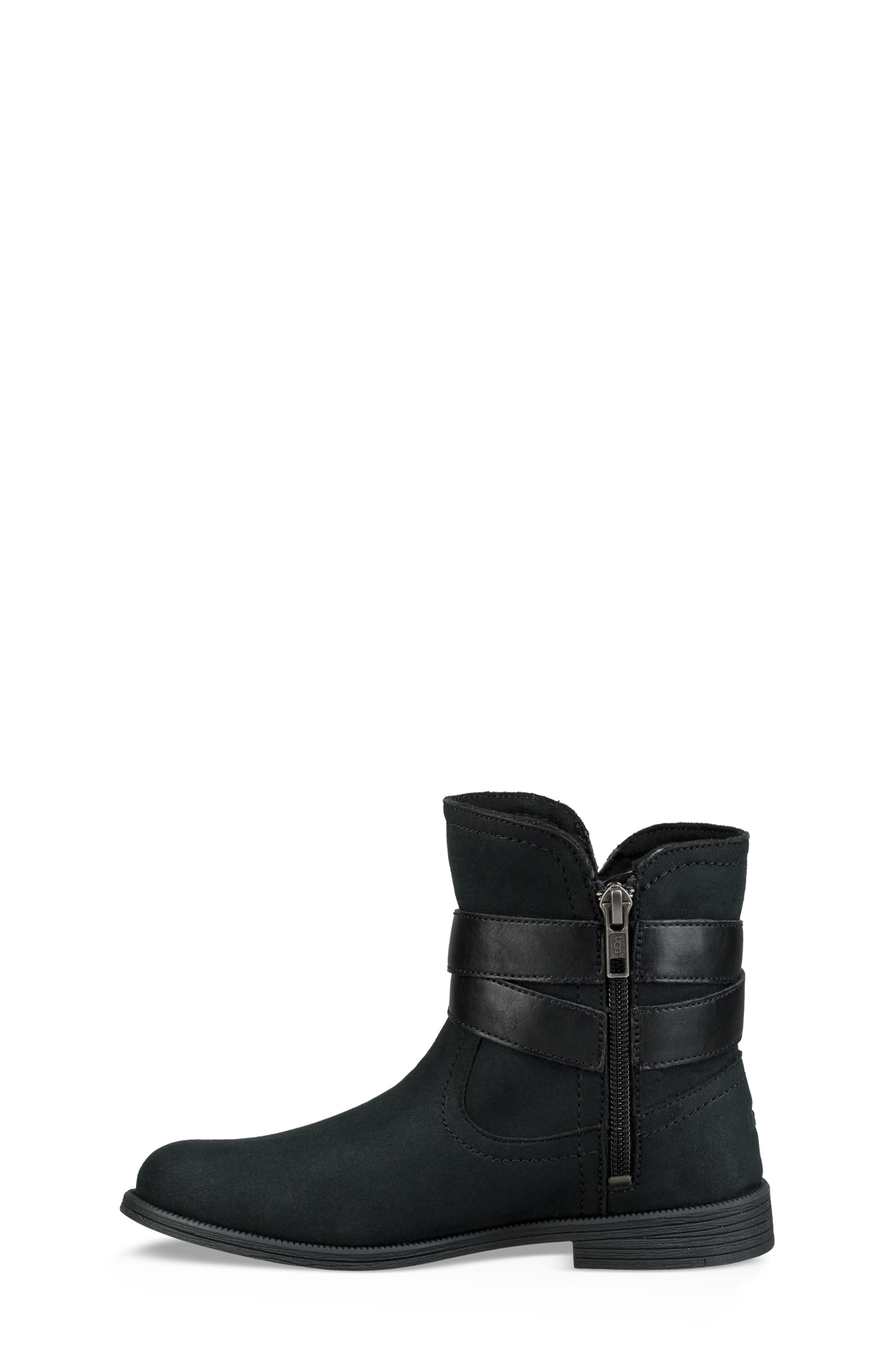 UGG<SUP>®</SUP>, UGG Joanie Bow Boot, Alternate thumbnail 6, color, BLACK