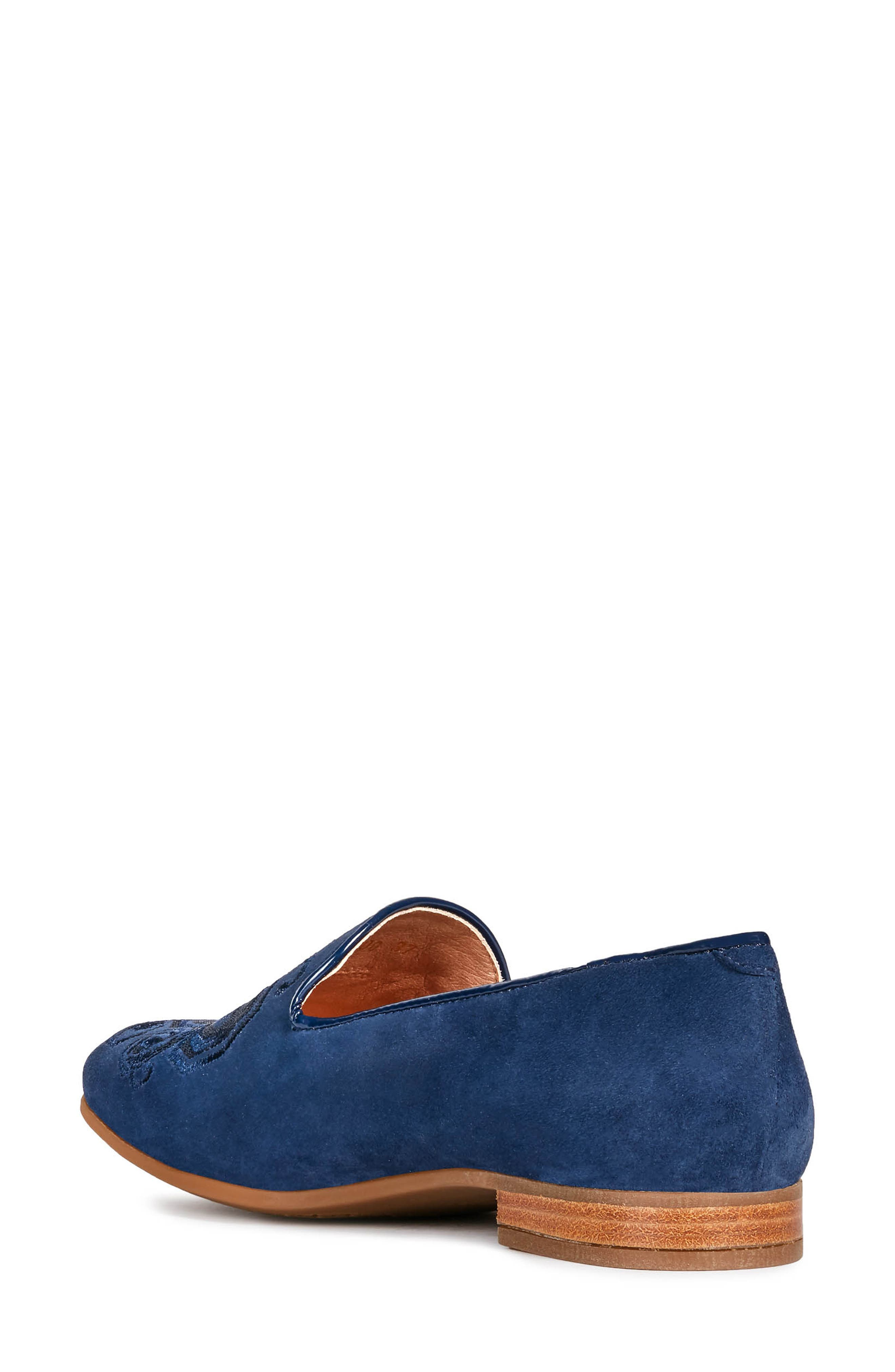 GEOX, Marlyna Loafer, Alternate thumbnail 7, color, BLUE SUEDE