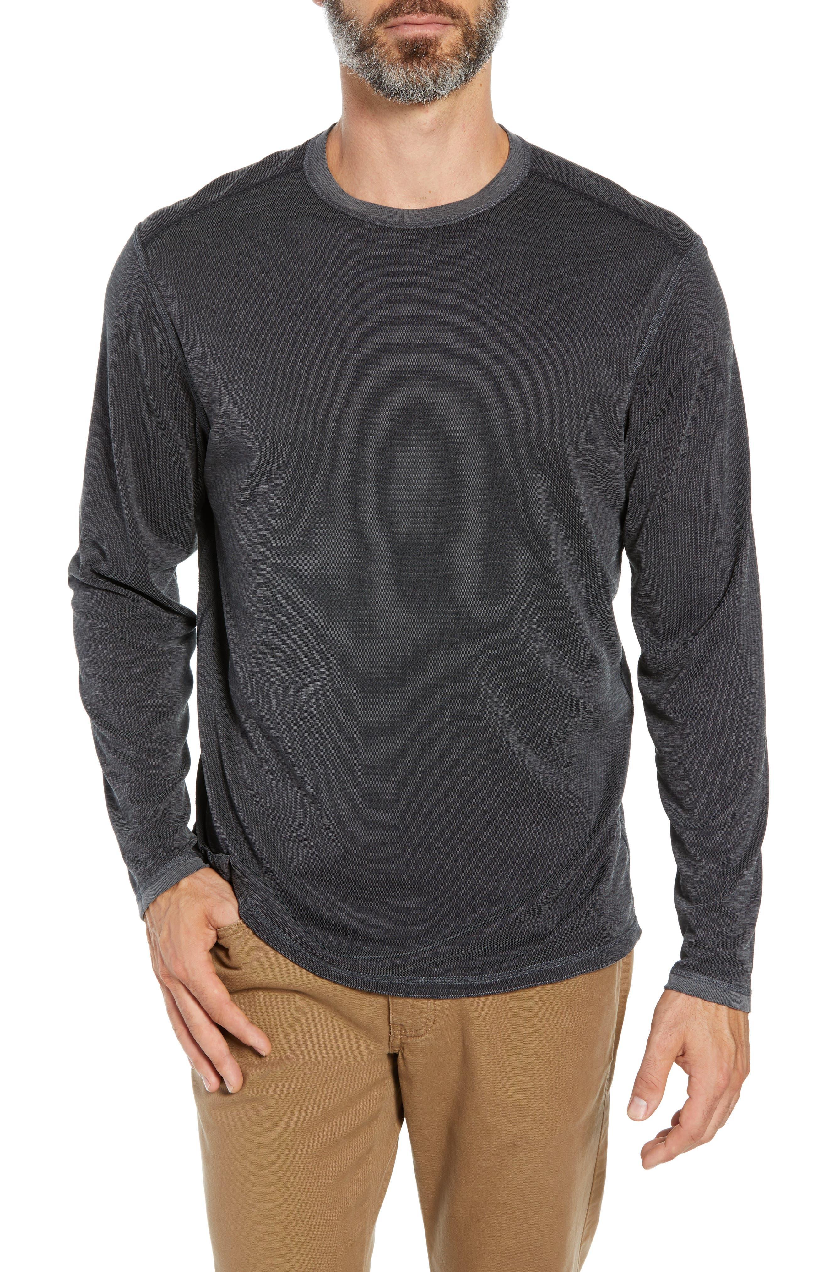 TOMMY BAHAMA, Flip Tide T-shirt, Alternate thumbnail 2, color, BLACK