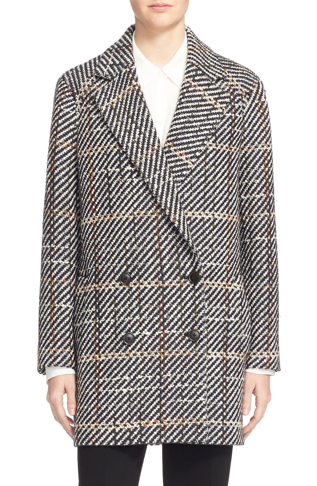 THEORY Graphic Tweed Coat, Main, color, 454
