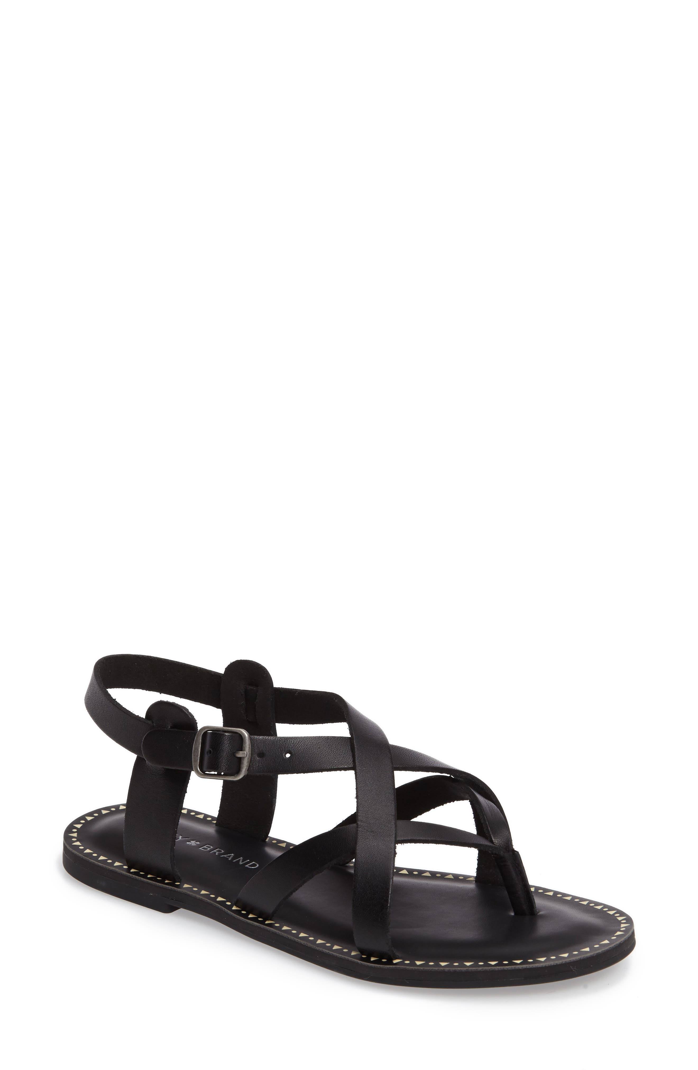 LUCKY BRAND Adinis Flat Sandal, Main, color, 001