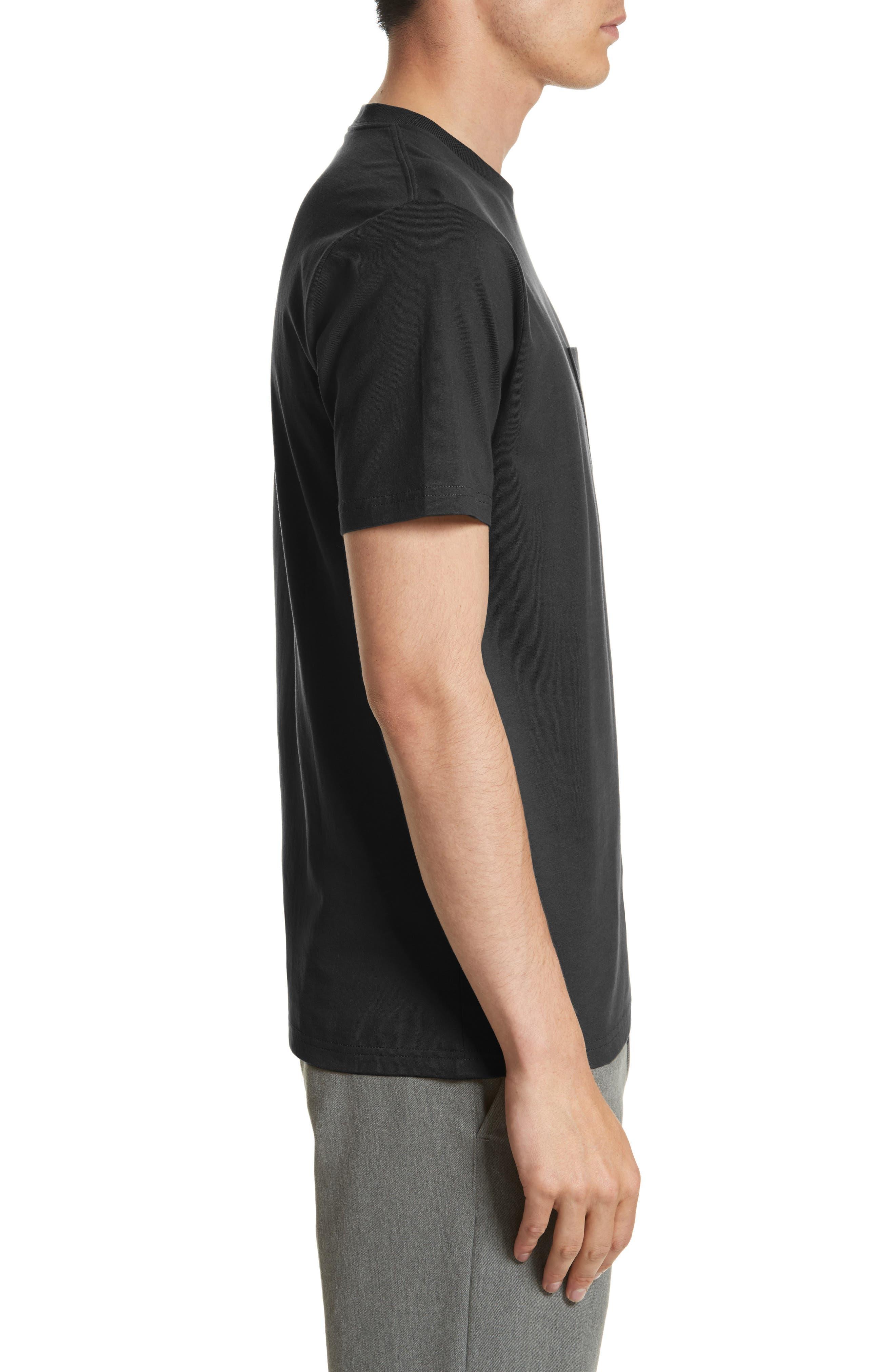 CARHARTT WORK IN PROGRESS, Logo Pocket T-Shirt, Alternate thumbnail 3, color, BLACK