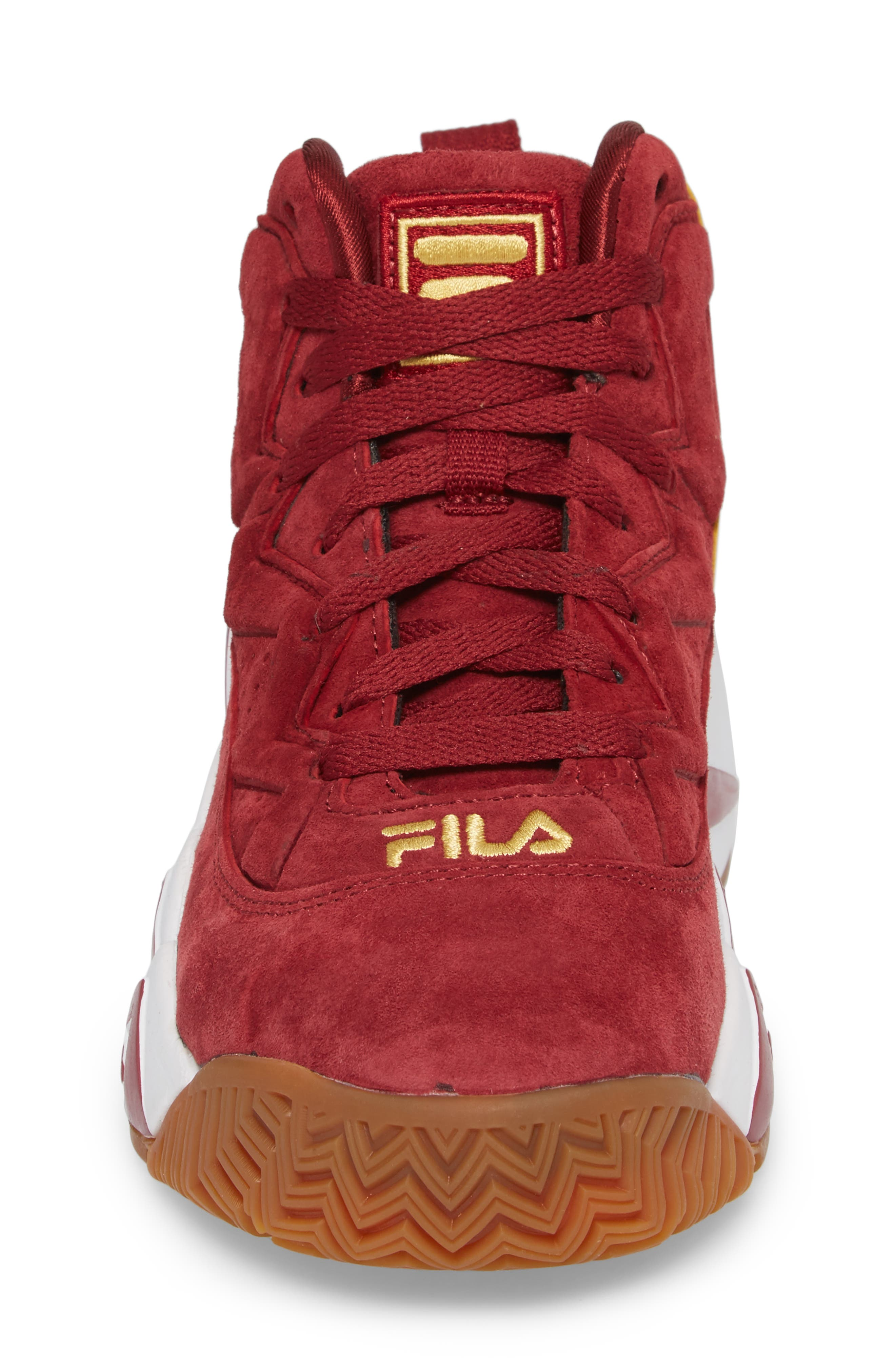 FILA, Heritage Sneaker, Alternate thumbnail 4, color, BIKING RED/ GOLD/ WHITE