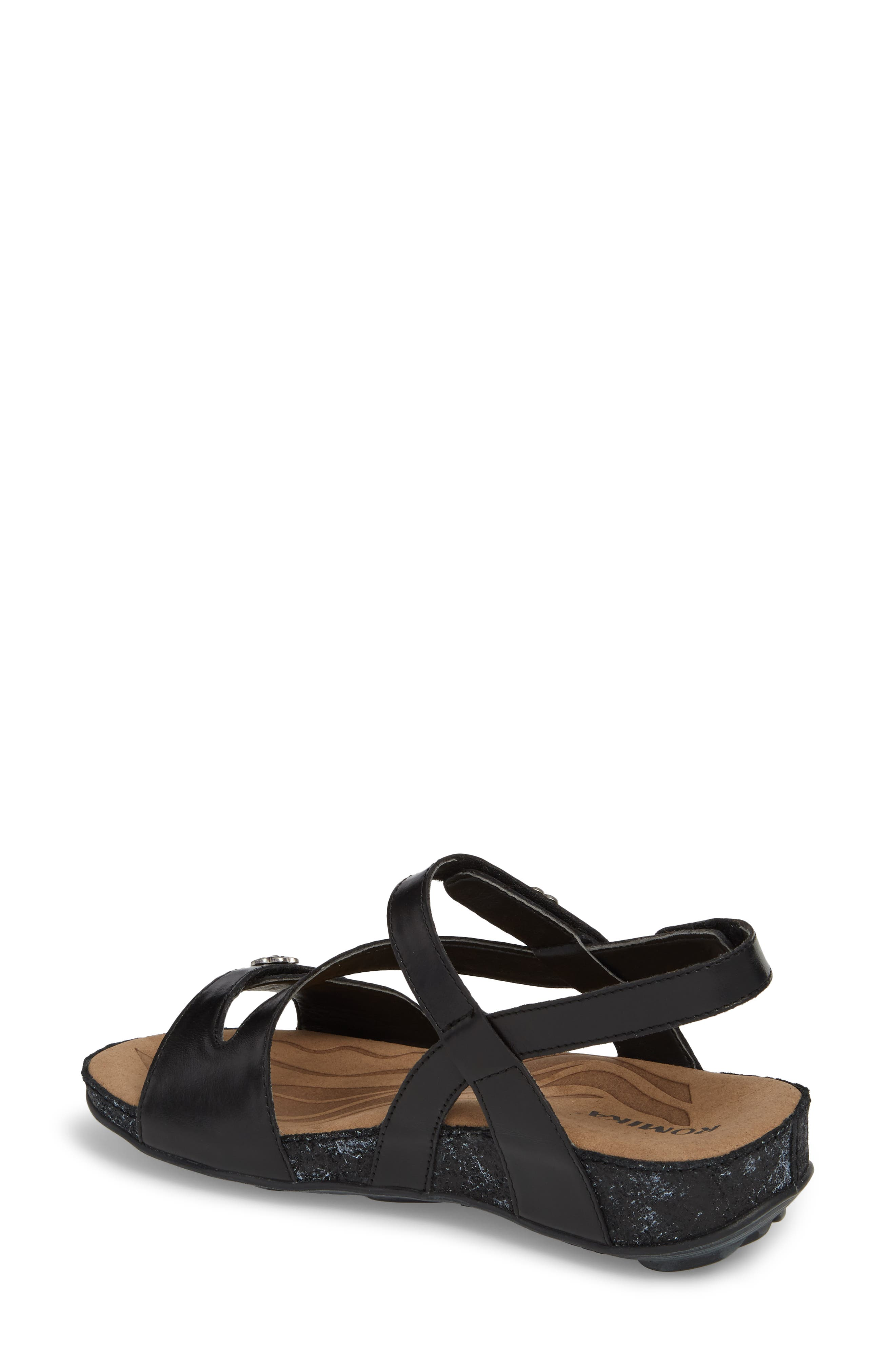 ROMIKA<SUP>®</SUP>, Fidschi 54 Sandal, Alternate thumbnail 2, color, BLACK LEATHER