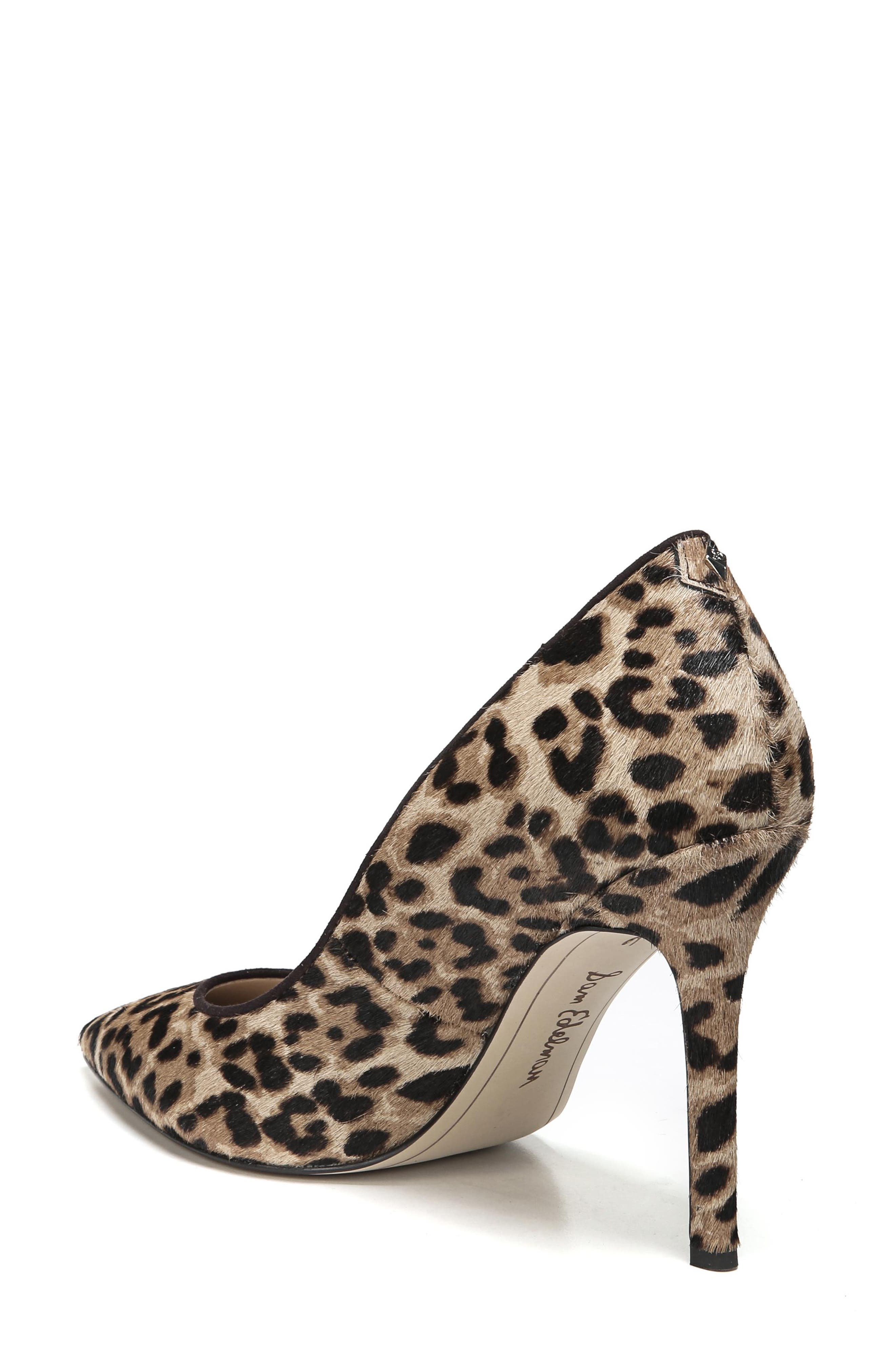 SAM EDELMAN, Hazel Pointy Toe Pump, Alternate thumbnail 2, color, LEOPARD CALF HAIR