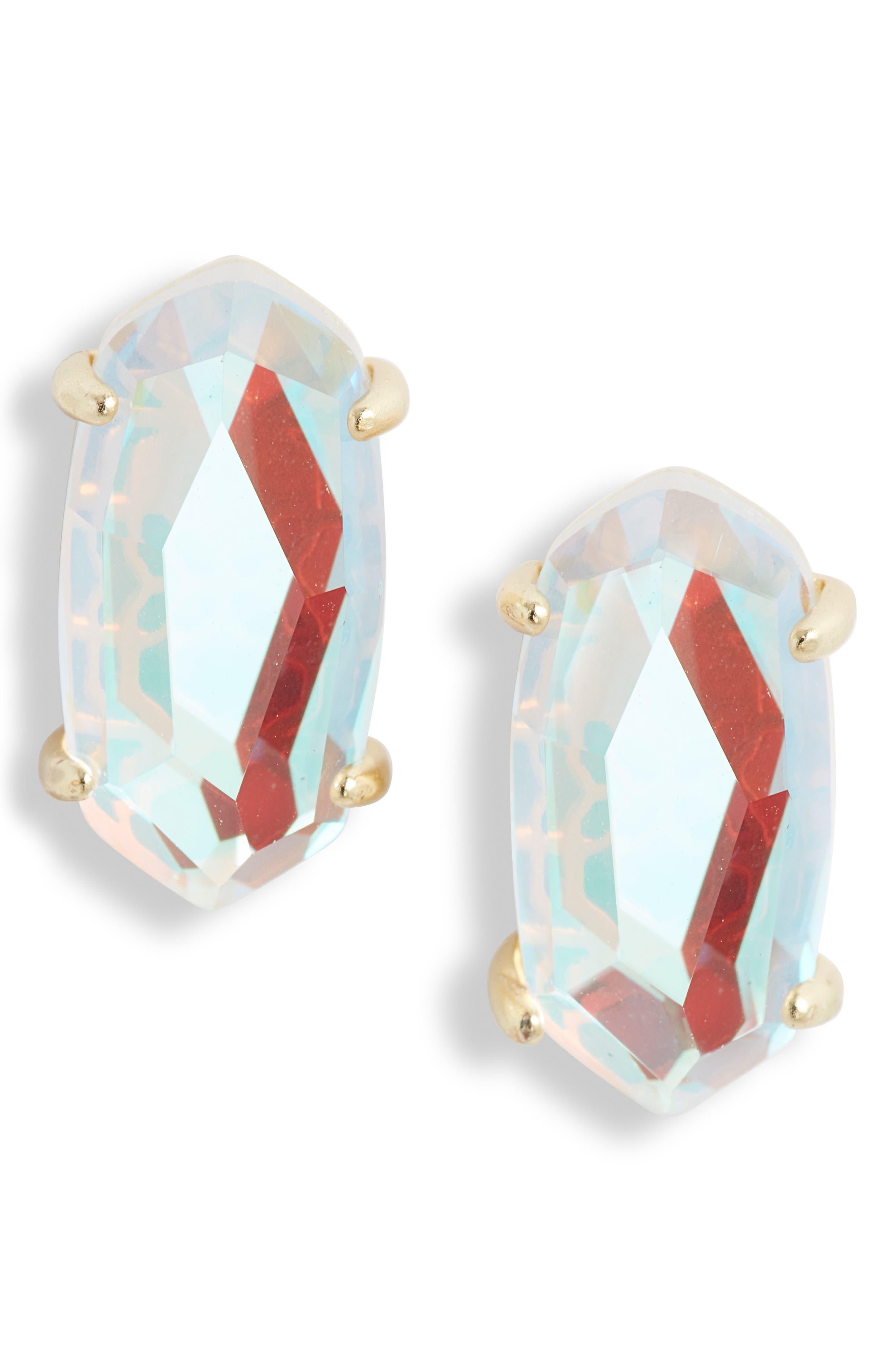 KENDRA SCOTT Betty Stud Earrings, Main, color, DICHROIC GLASS/ GOLD