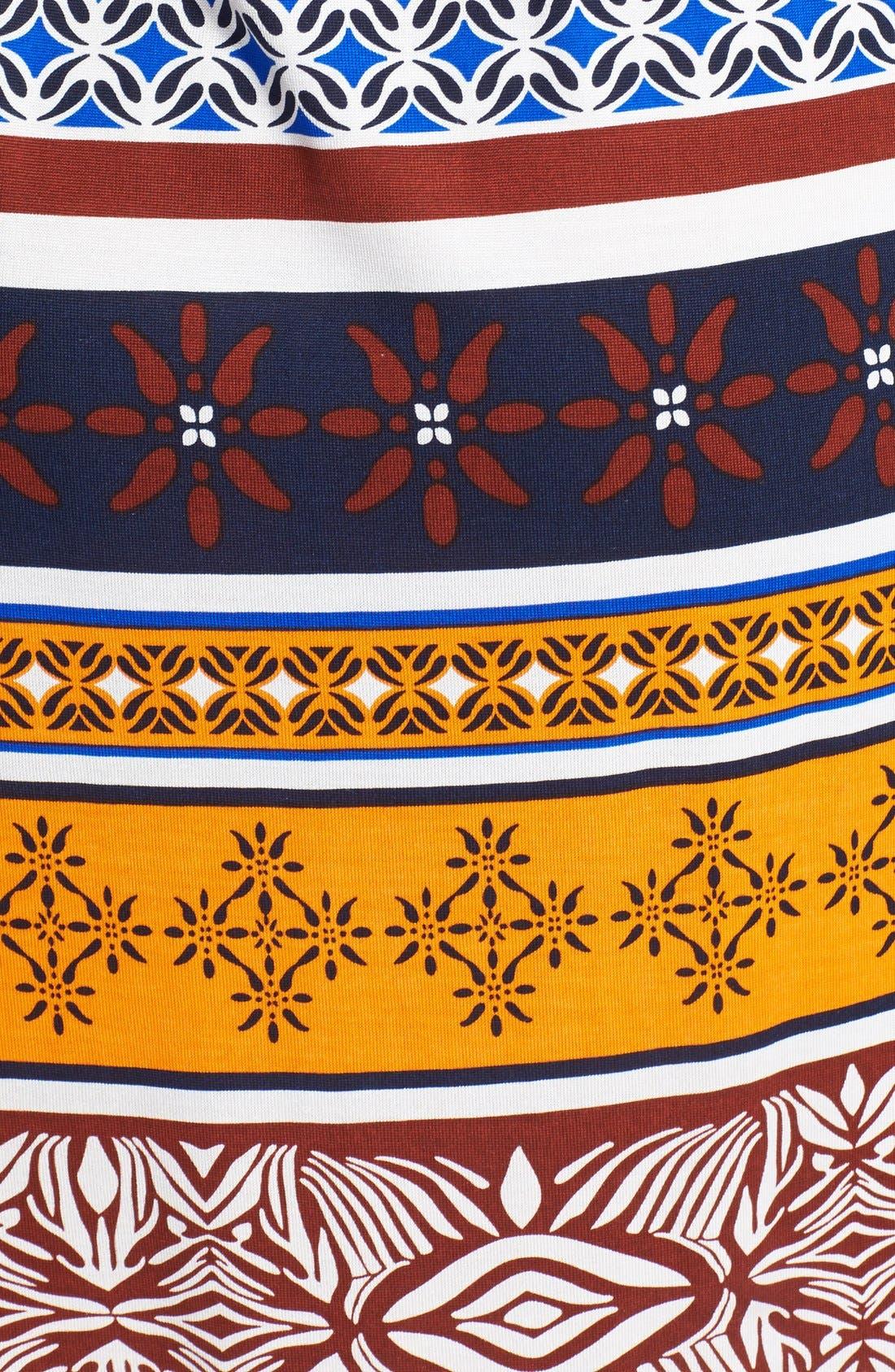 DIANE VON FURSTENBERG, 'New Julian 2 - Desert Band' Silk Jersey Wrap Dress, Alternate thumbnail 2, color, 400
