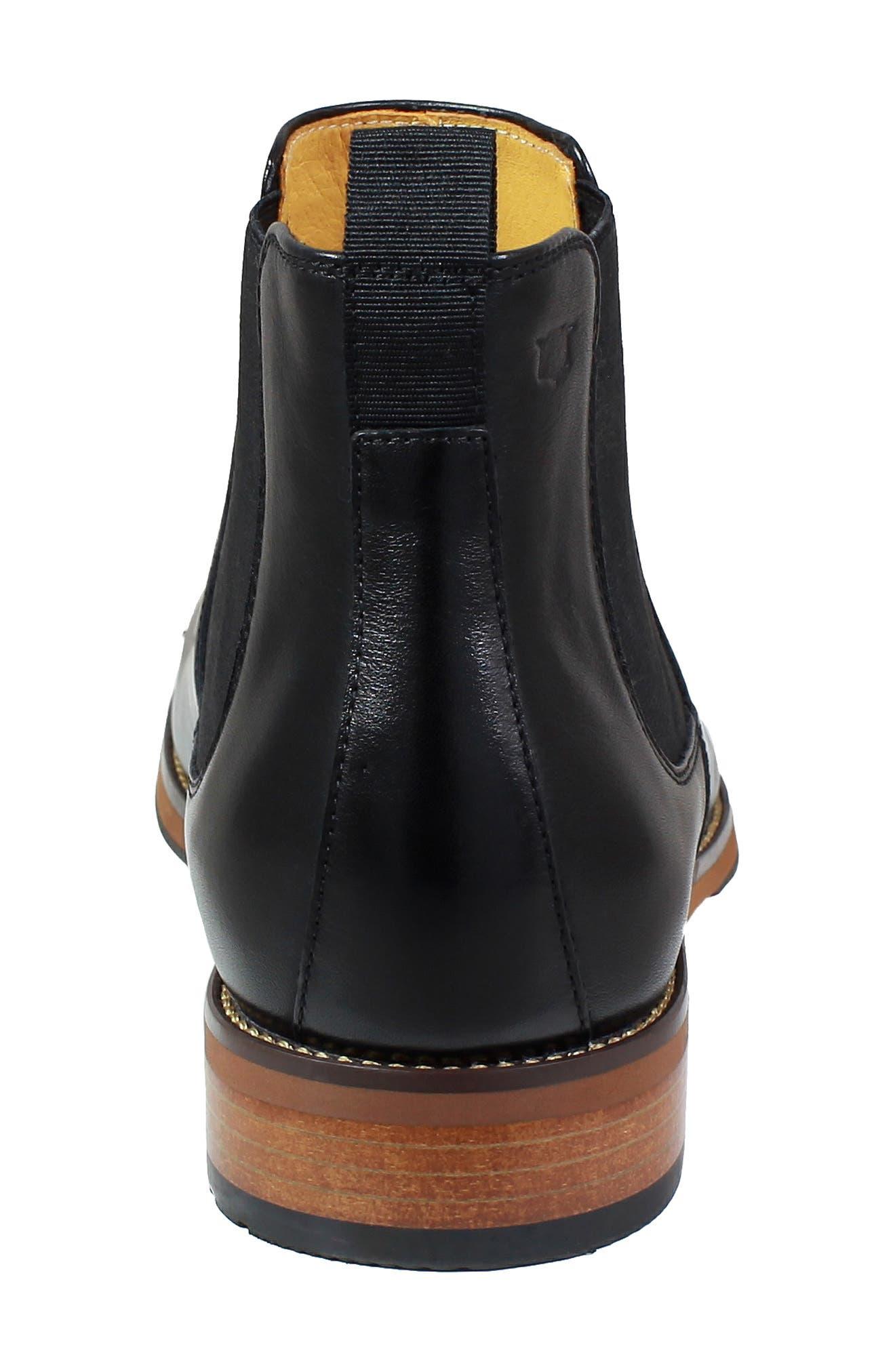 FLORSHEIM, Blaze Mid Chelsea Boot, Alternate thumbnail 6, color, 001