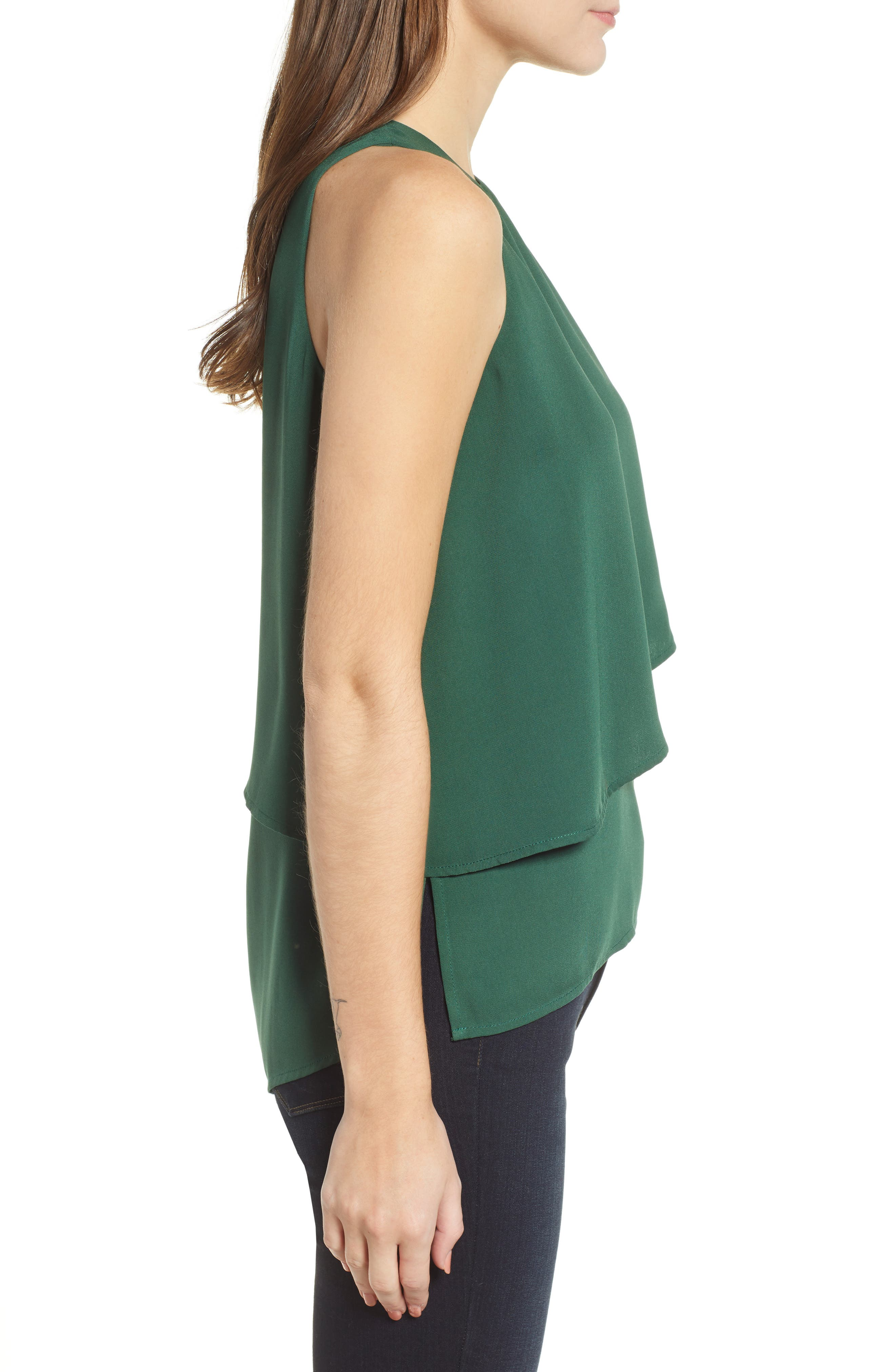 CHELSEA28, Tiered Sleeveless Top, Alternate thumbnail 4, color, 301