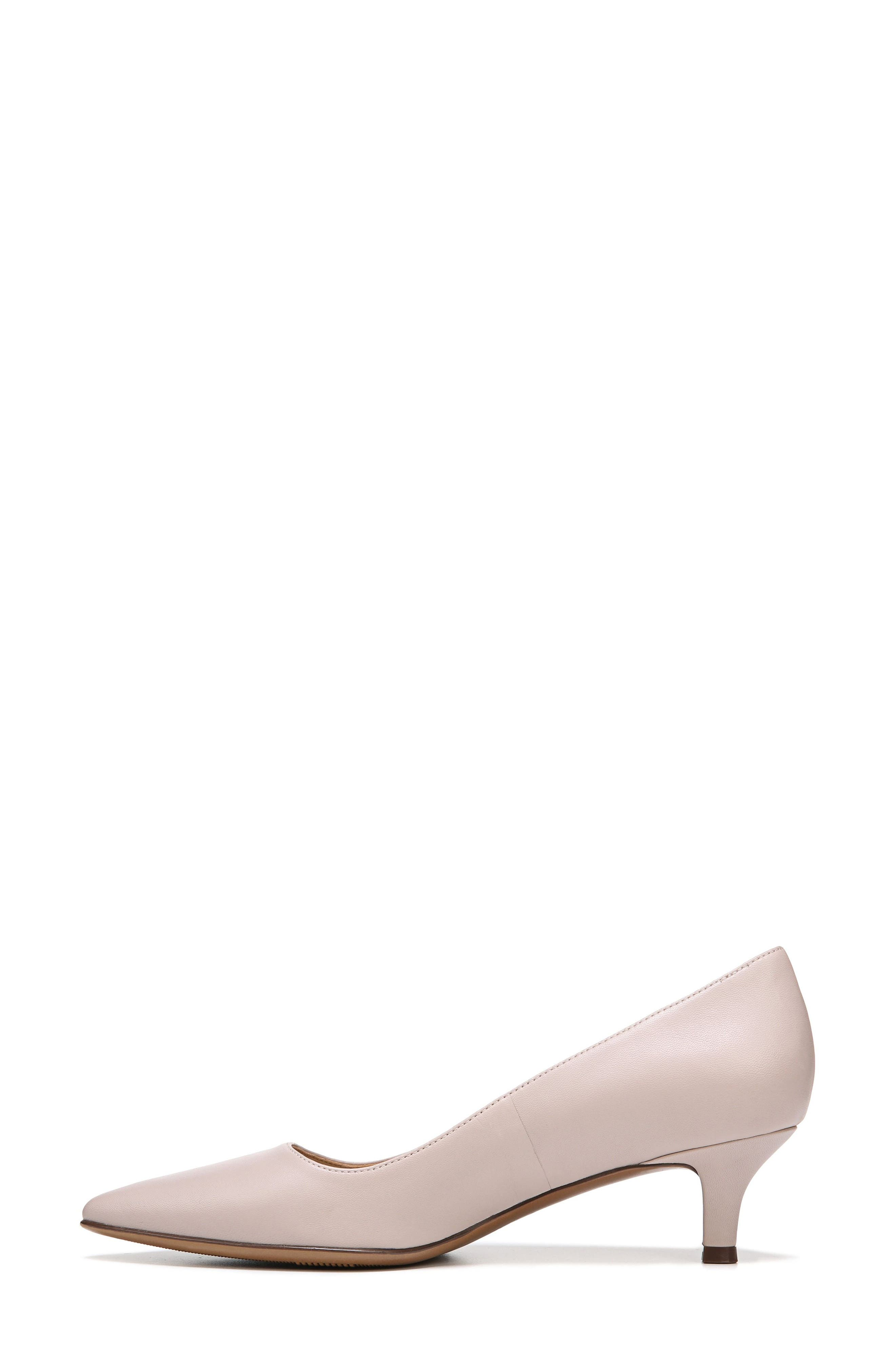 NATURALIZER, Pippa Pump, Alternate thumbnail 3, color, GREY LEATHER