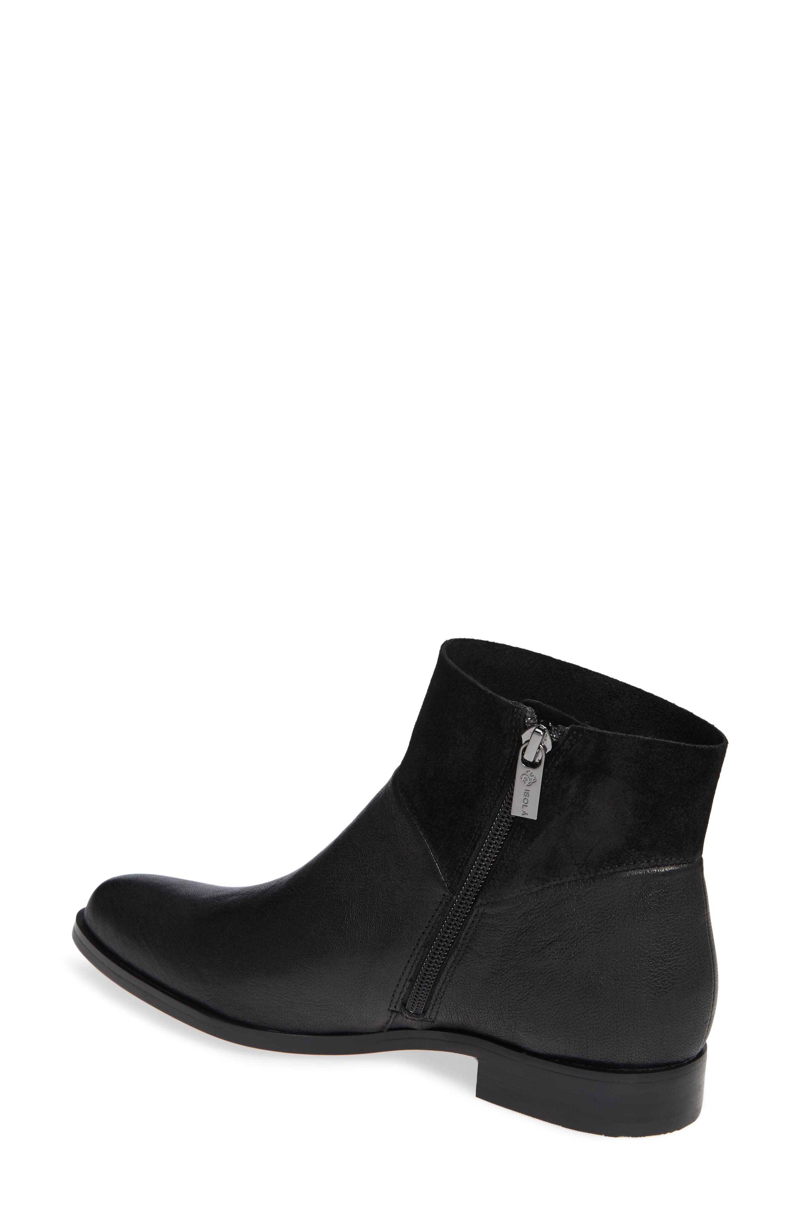 ISOLÁ, Isola Mosina Bootie, Alternate thumbnail 2, color, BLACK LEATHER