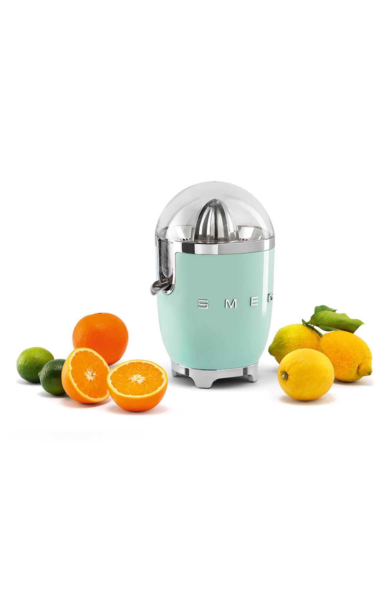 SMEG, 50s Retro Style Citrus Juicer, Alternate thumbnail 3, color, PASTEL GREEN