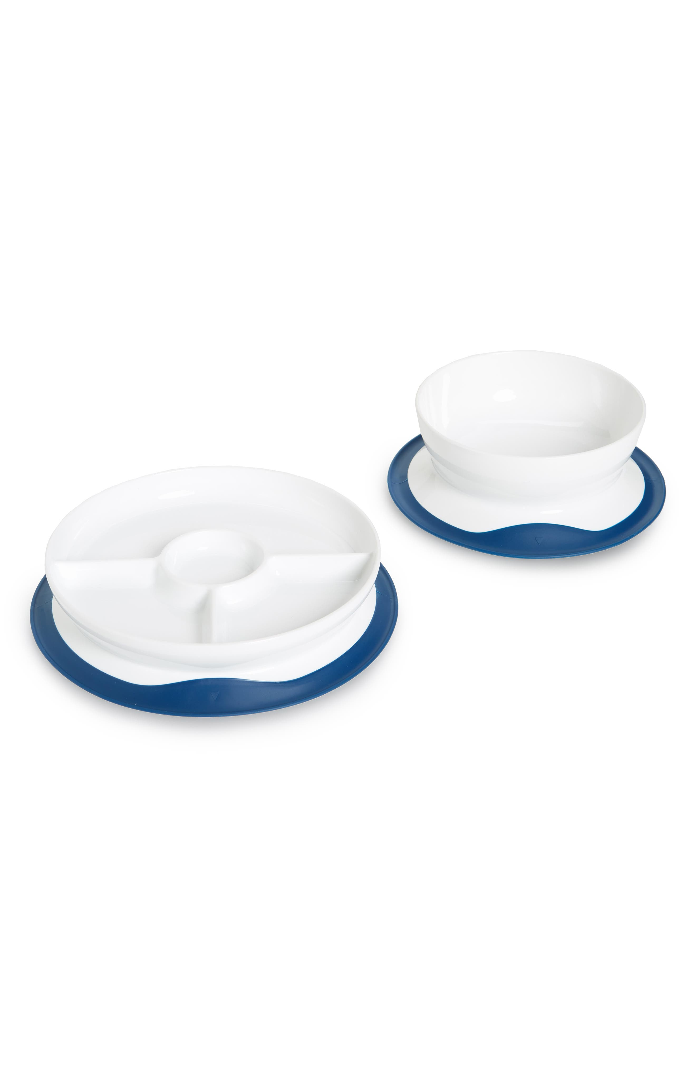 Infant Oxo Tot Stick  Stay Suction Divided Plate  Bowl Set Size One Size  Blue