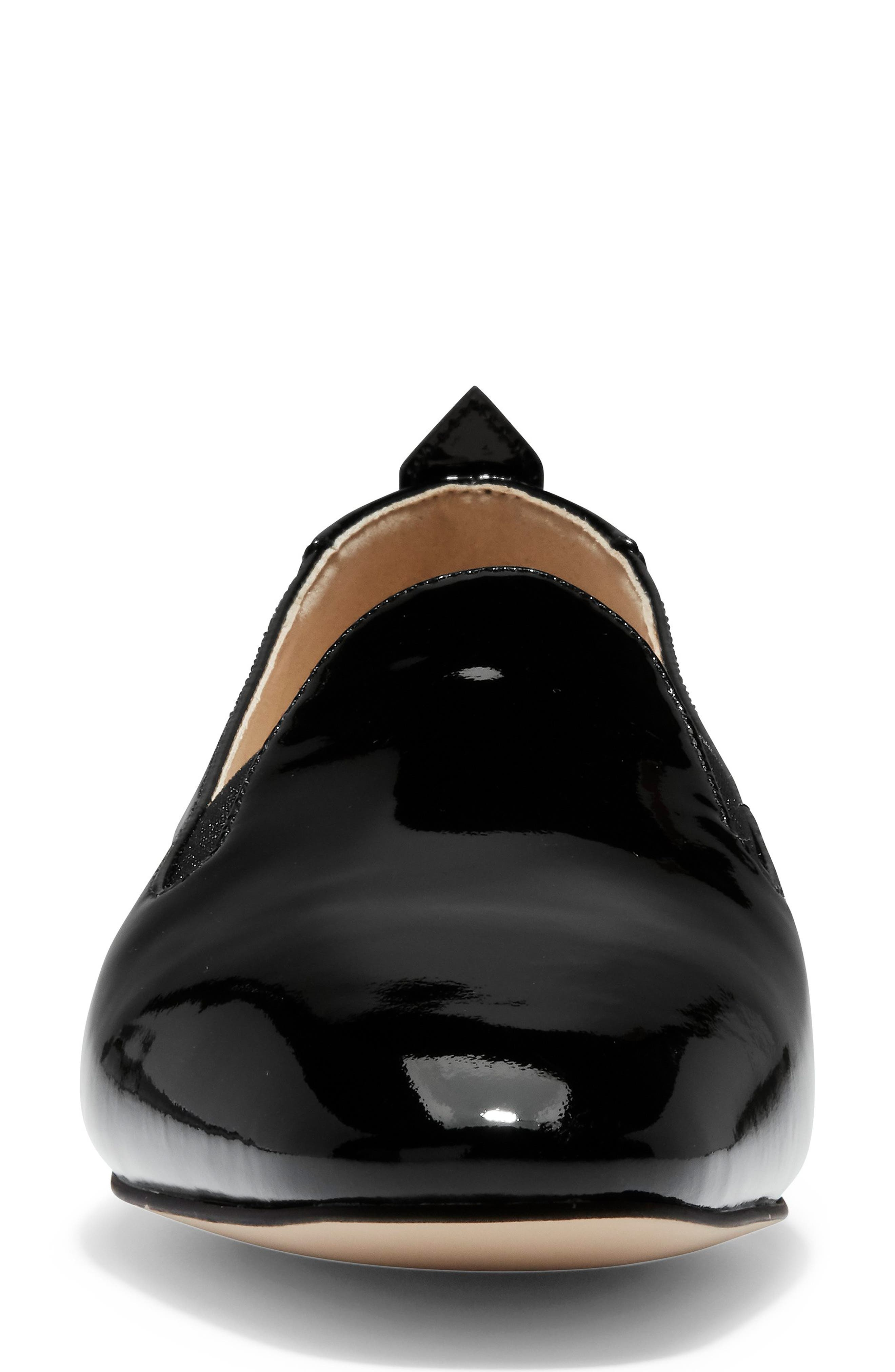 COLE HAAN, Portia Loafer, Alternate thumbnail 4, color, BLACK PATENT LEATHER
