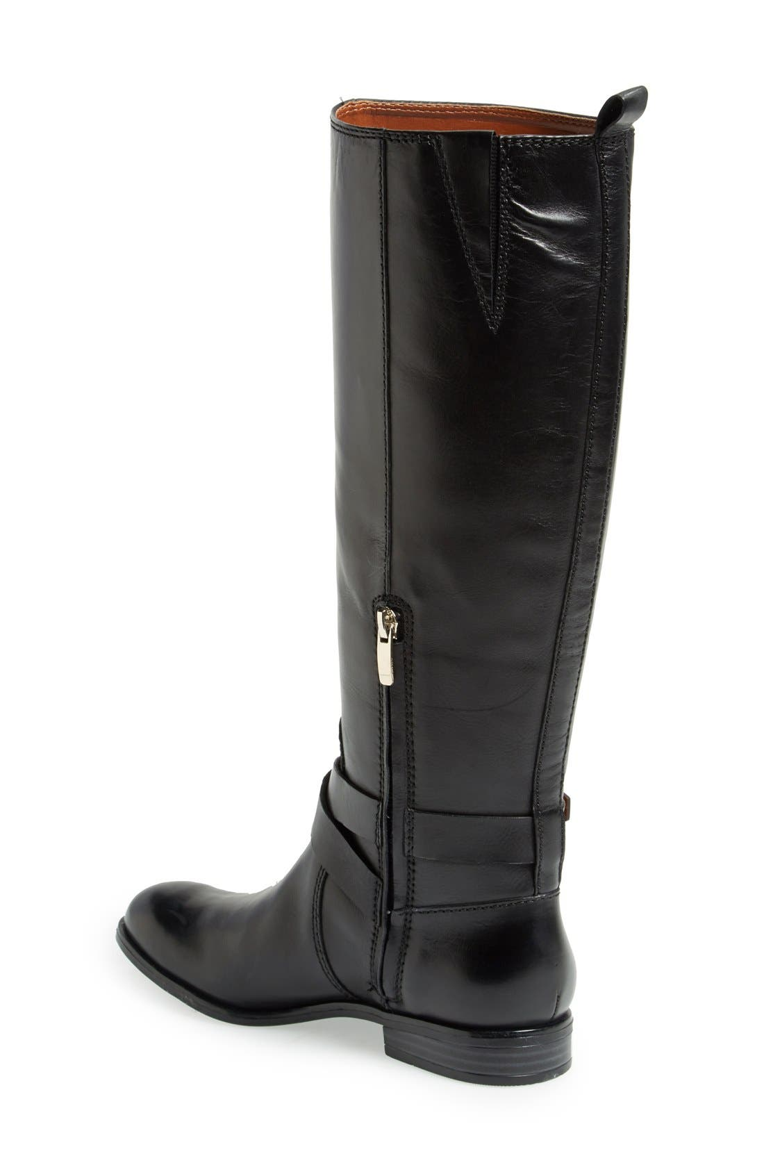ENZO ANGIOLINI, 'Daniana' Leather Riding Boot, Alternate thumbnail 4, color, 001